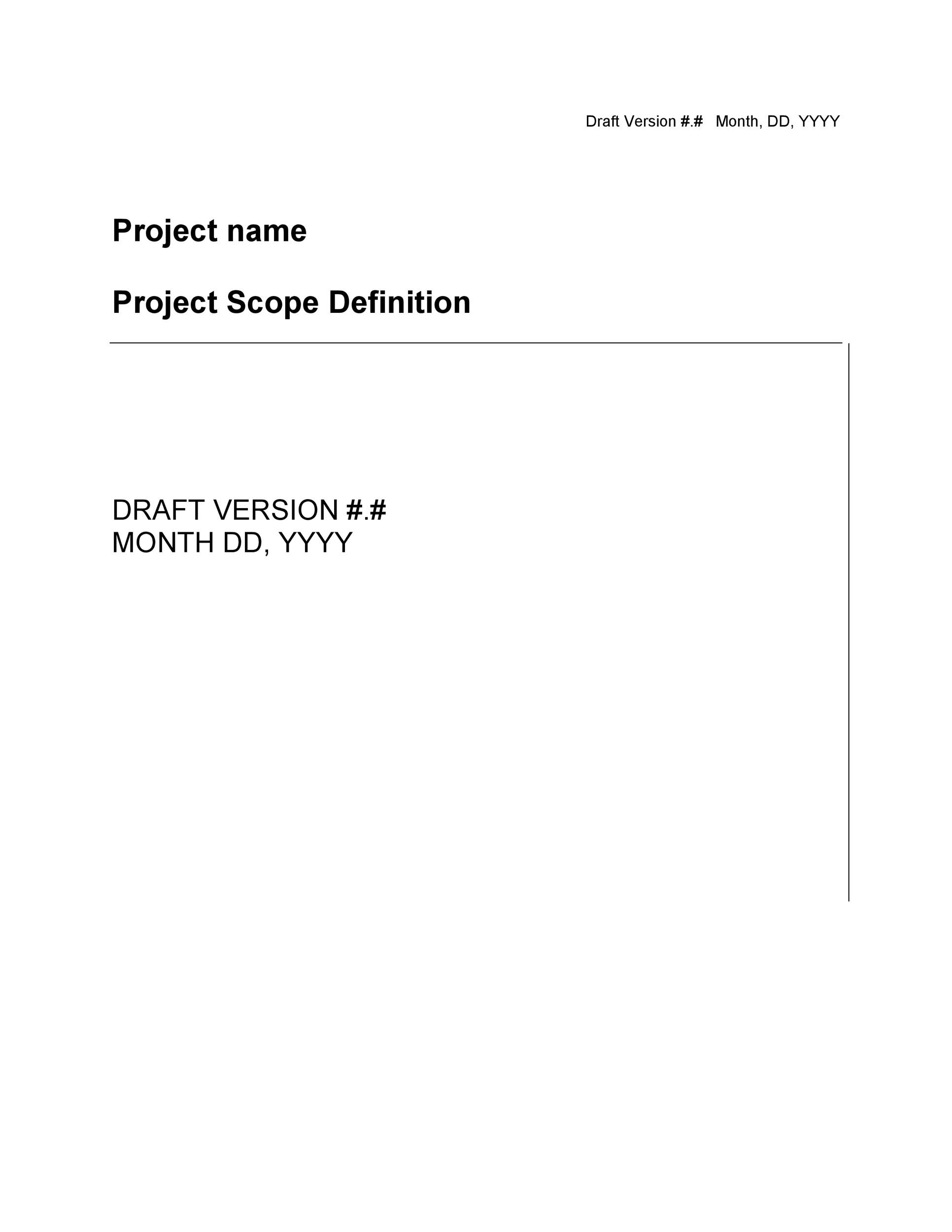Free project scope example 17
