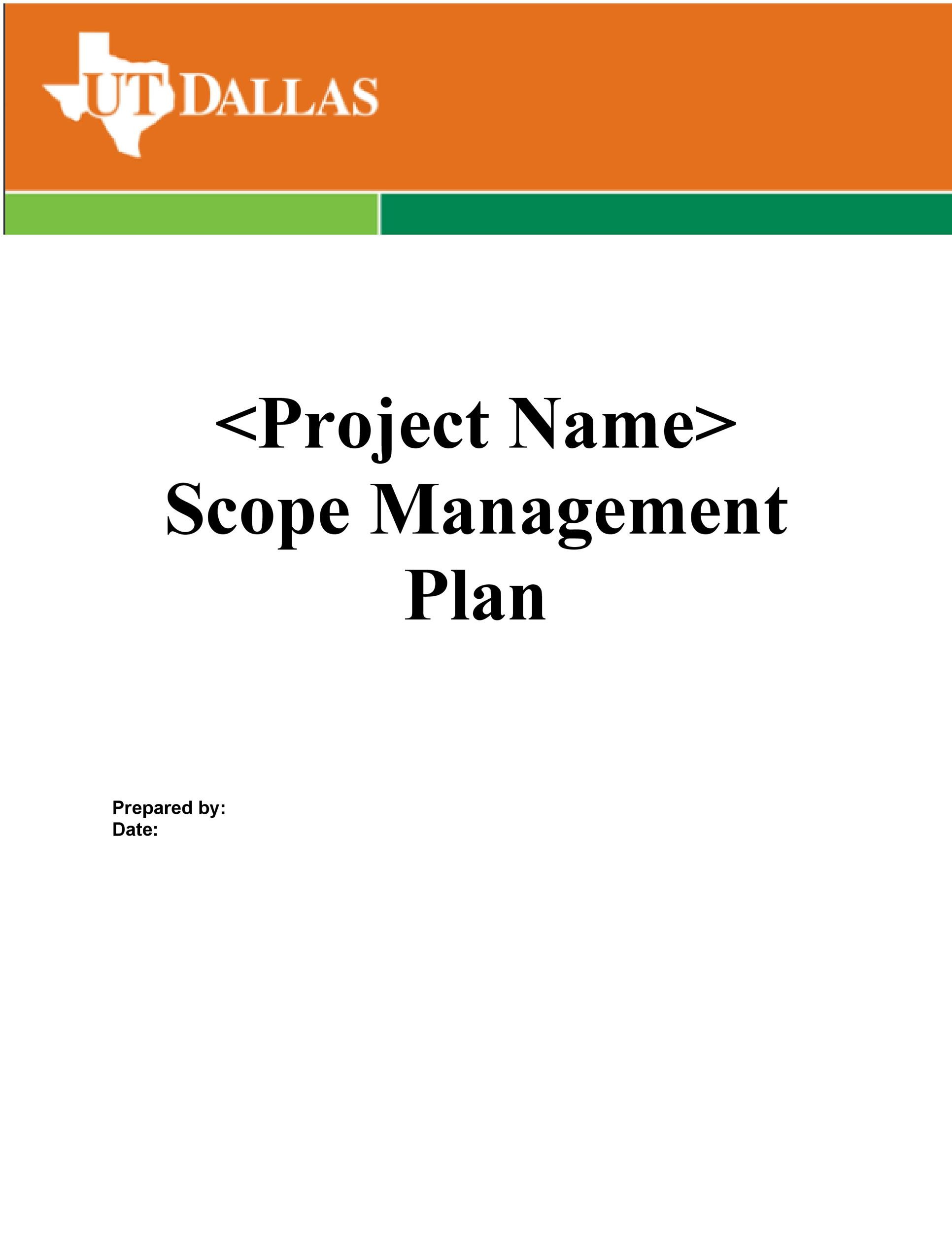 Elegant Printable Project Scope Example 19