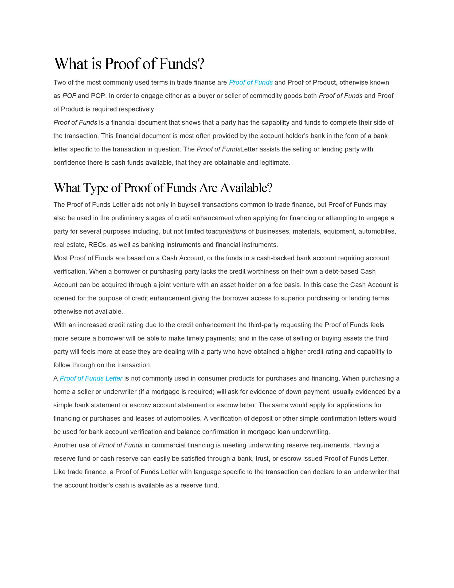 Free proof of funds letter template 21