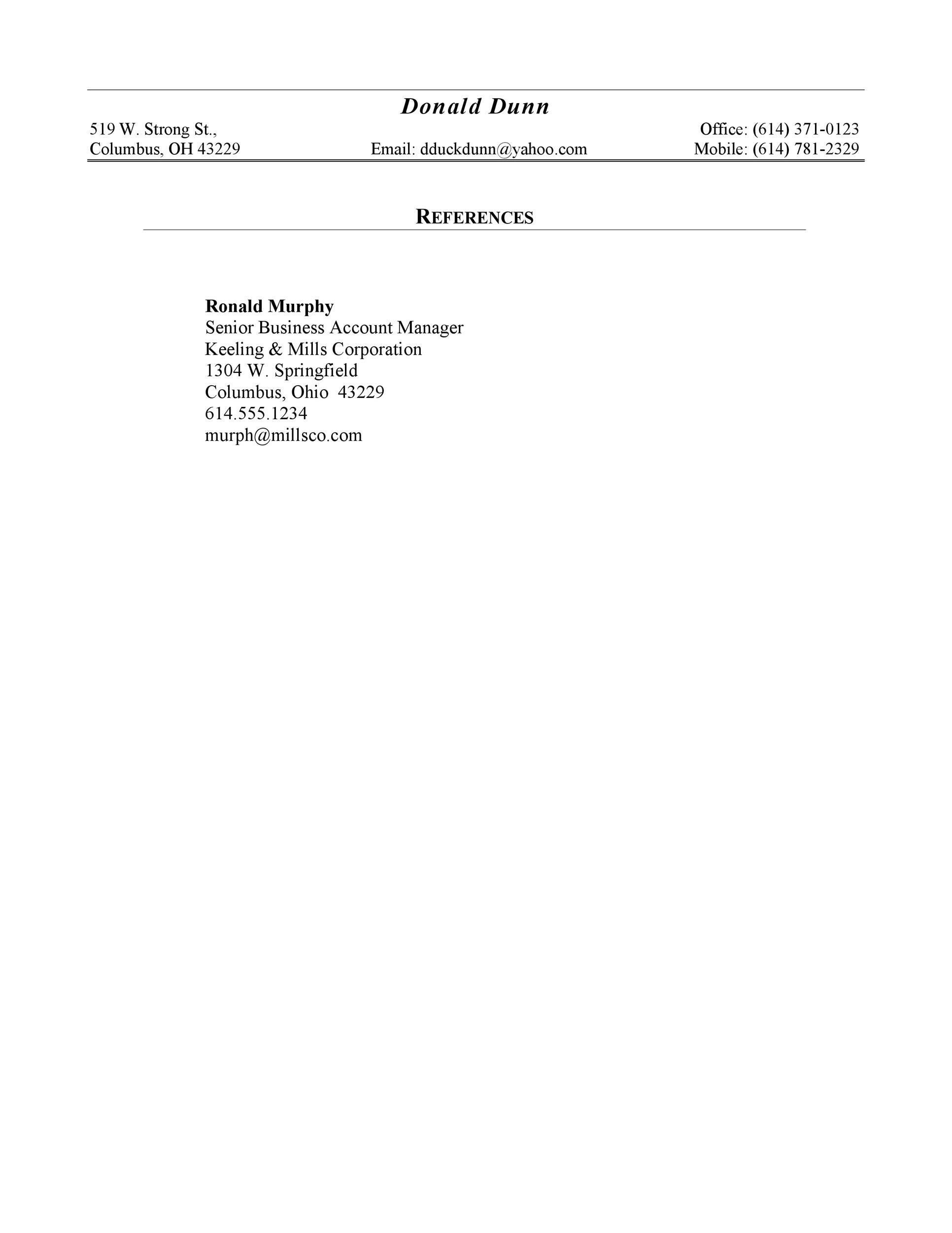 Free reference page template 08