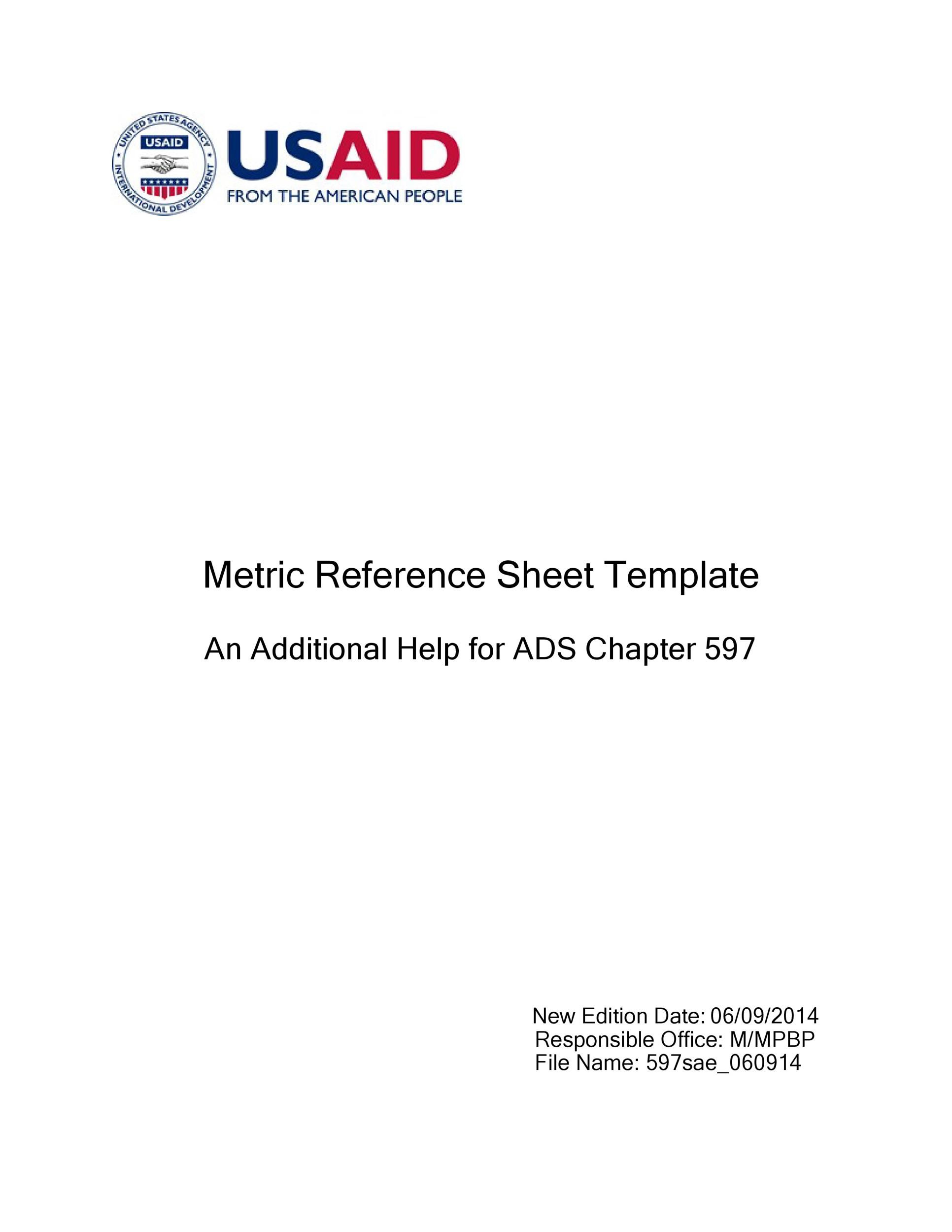 Free reference page template 20