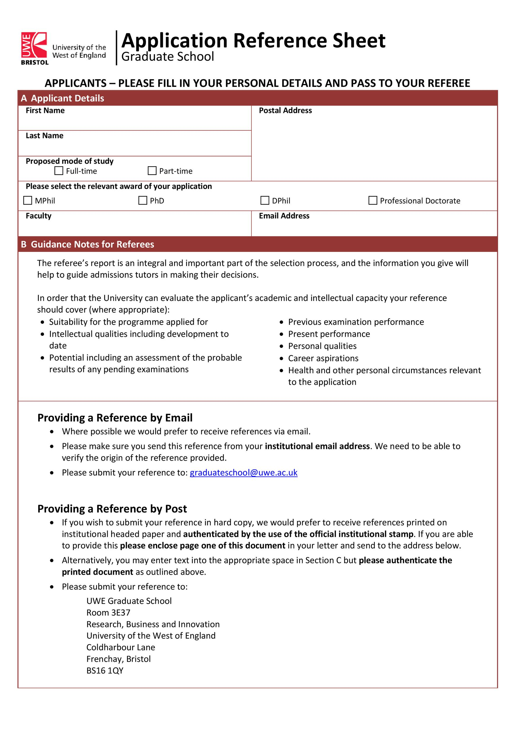 Free reference page template 26