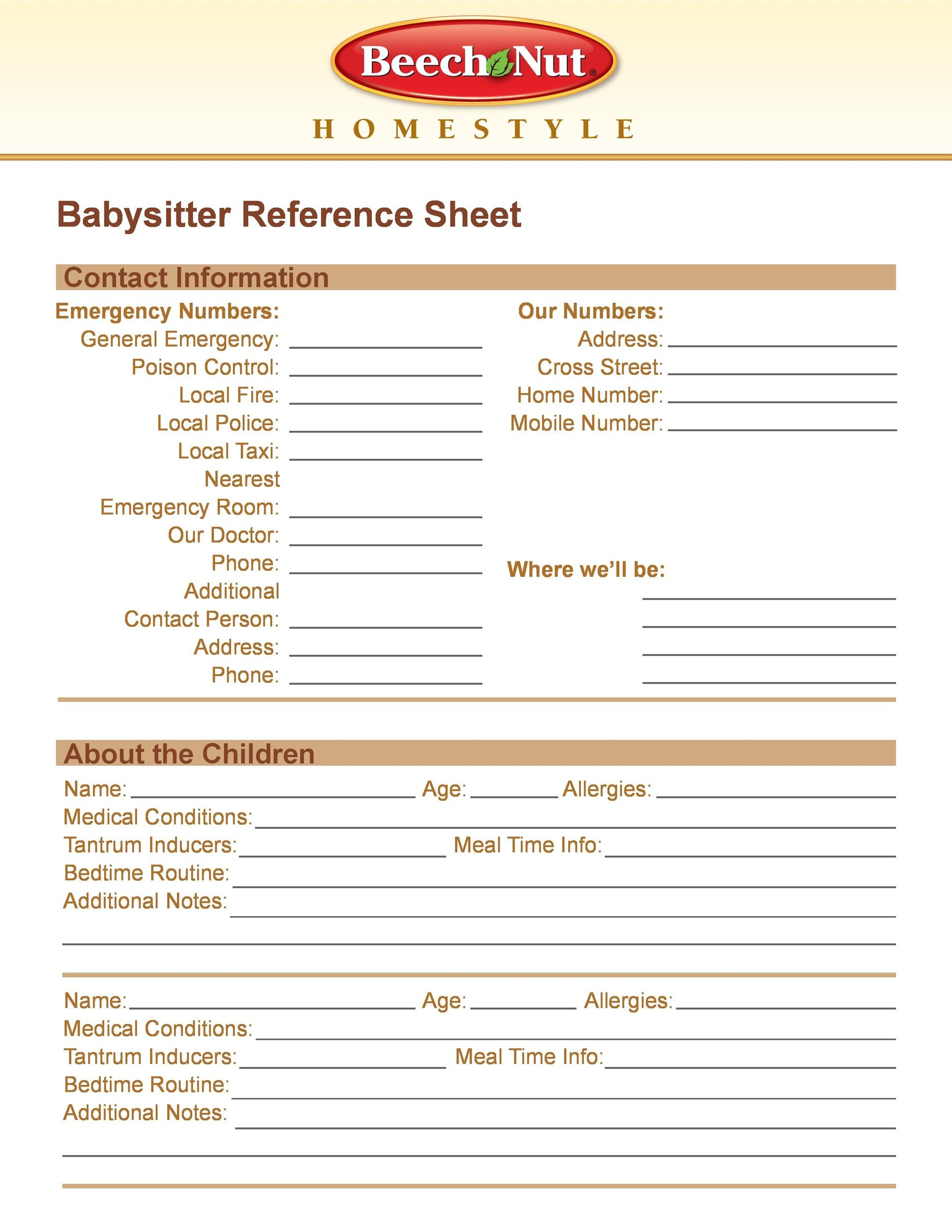 Free reference page template 39