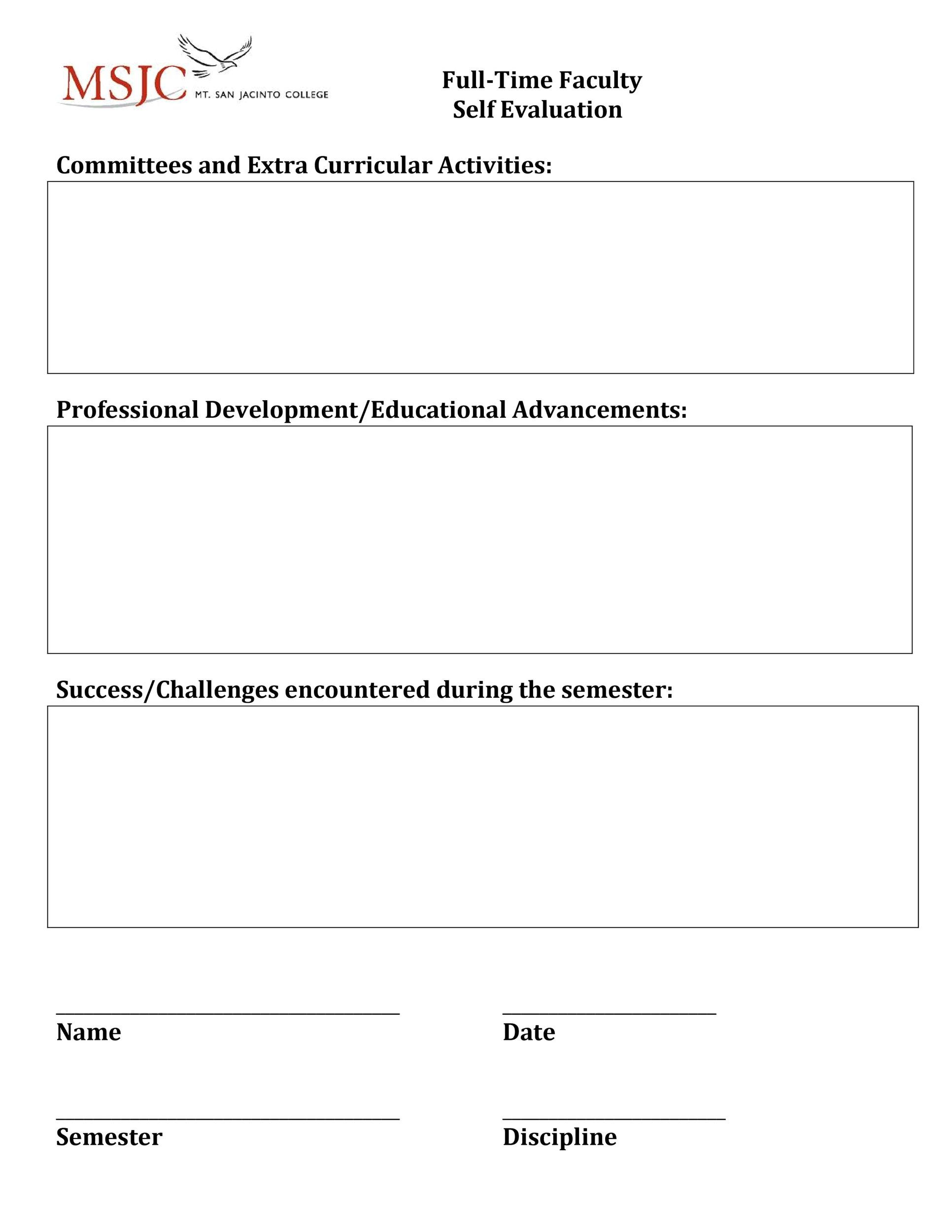 Free self evaluation examples 32