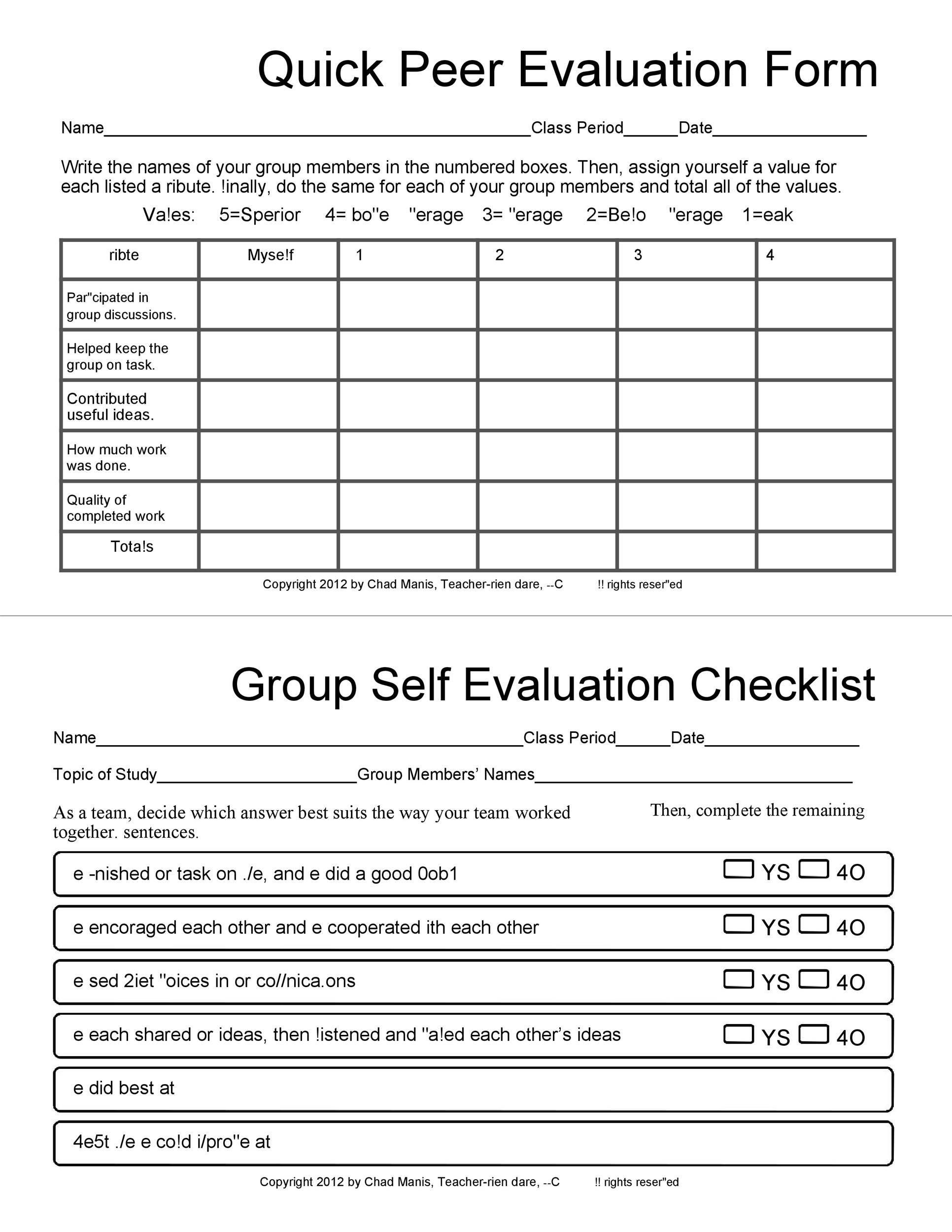 Free self evaluation examples 38