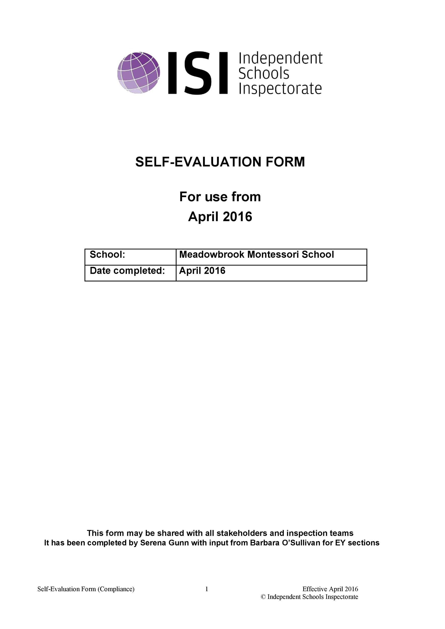 Free self evaluation examples 44
