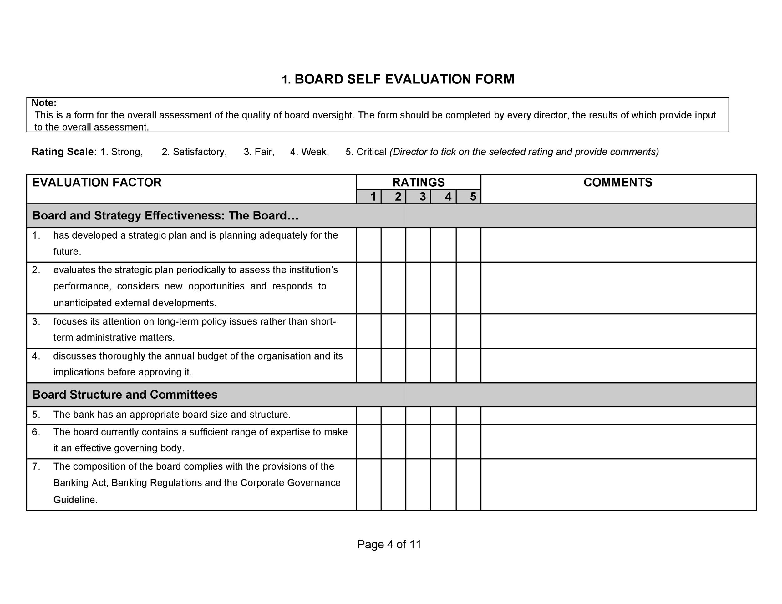 Free self evaluation examples 46