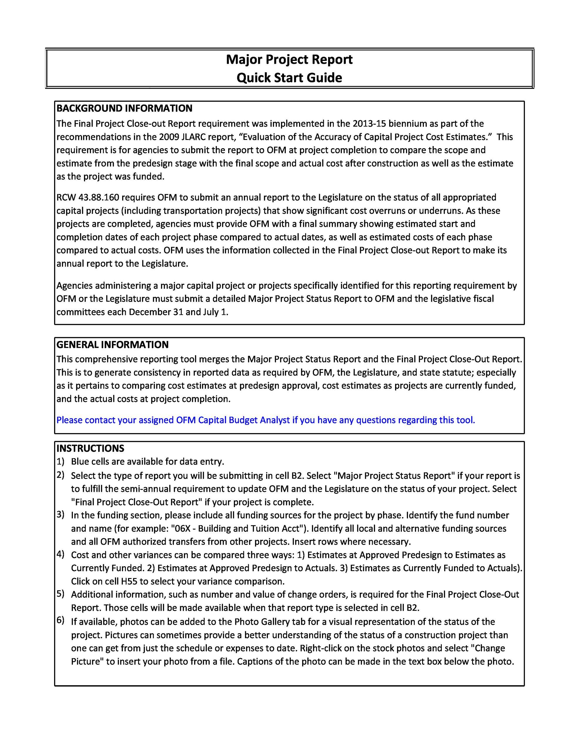 Free status report template 23