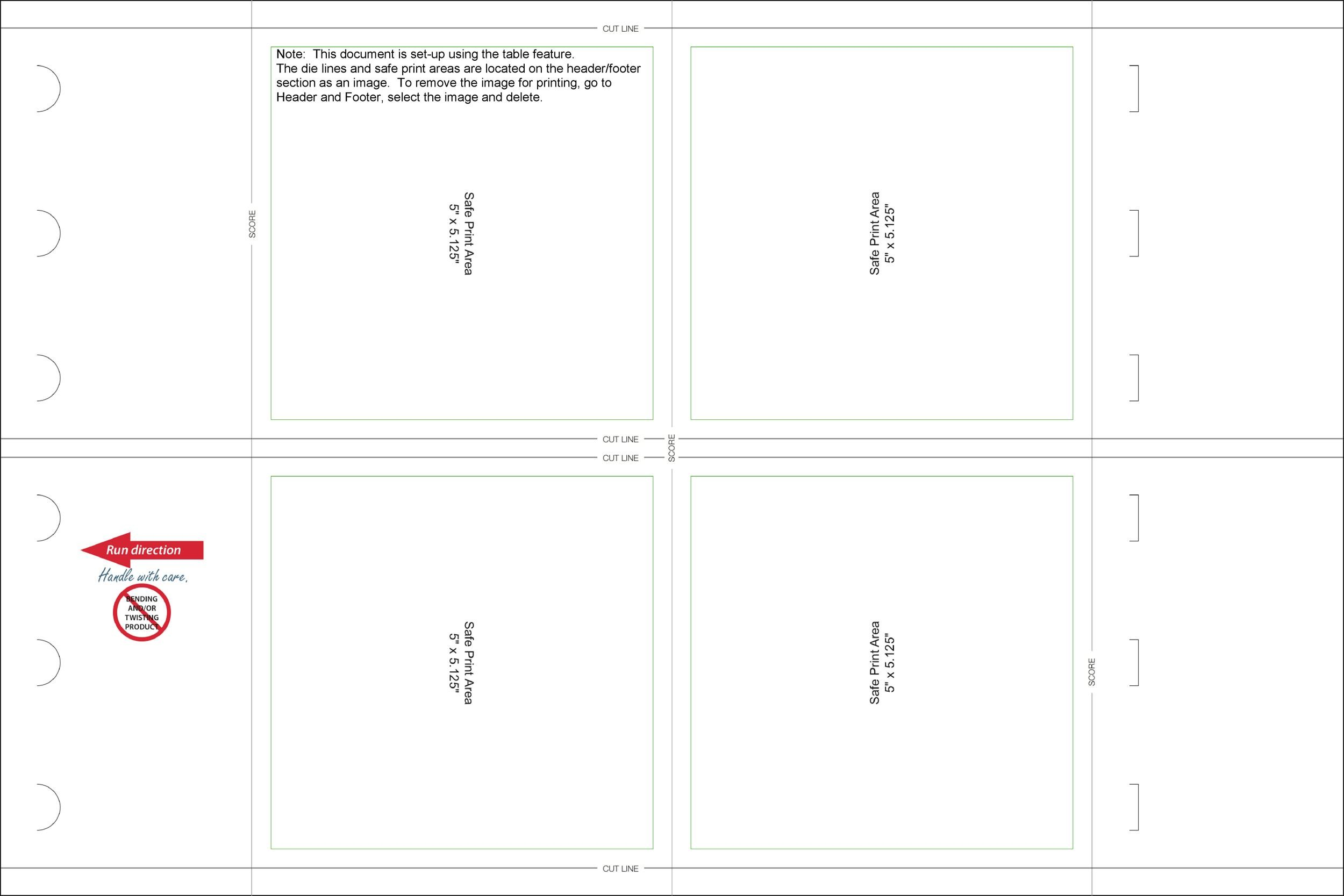 Printable Table Tent Template 02
