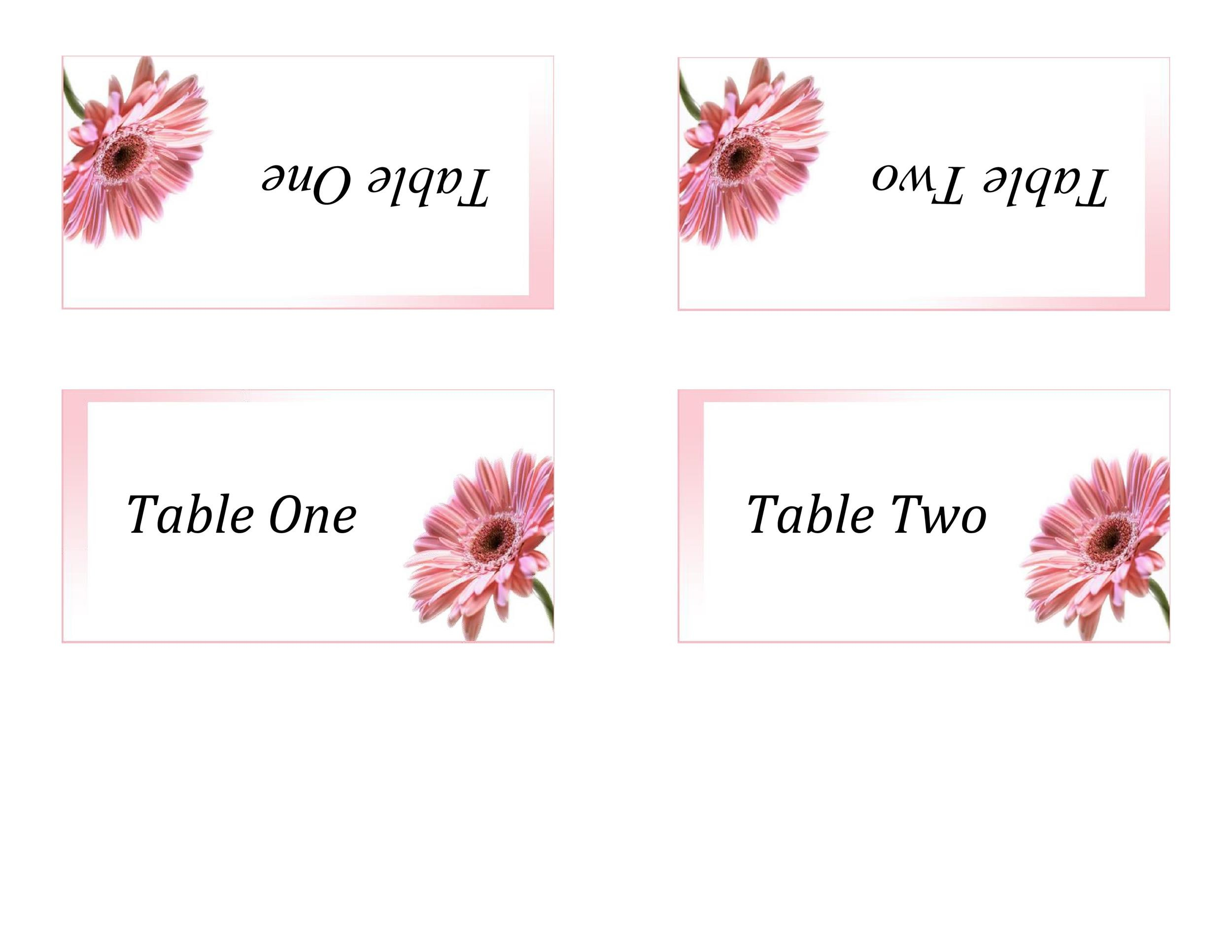 Printable Table Tent Templates And Cards  Template Lab