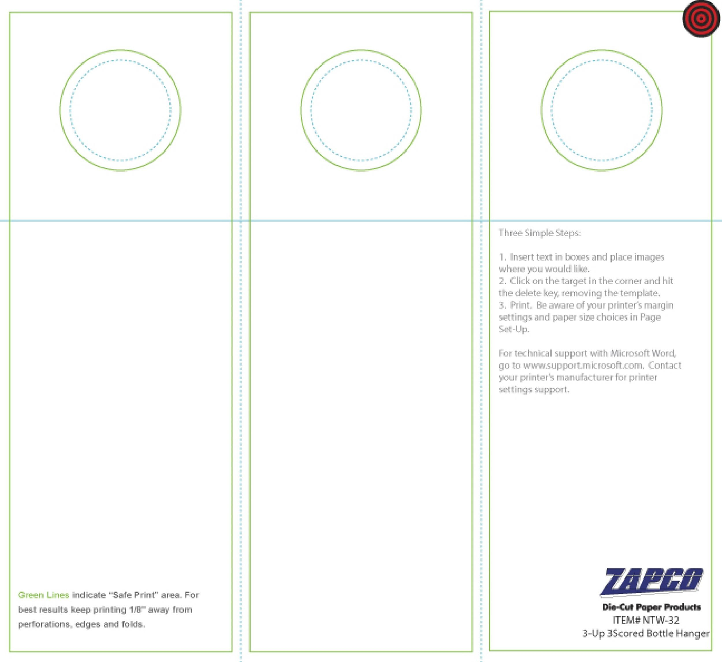 table tent template word mac