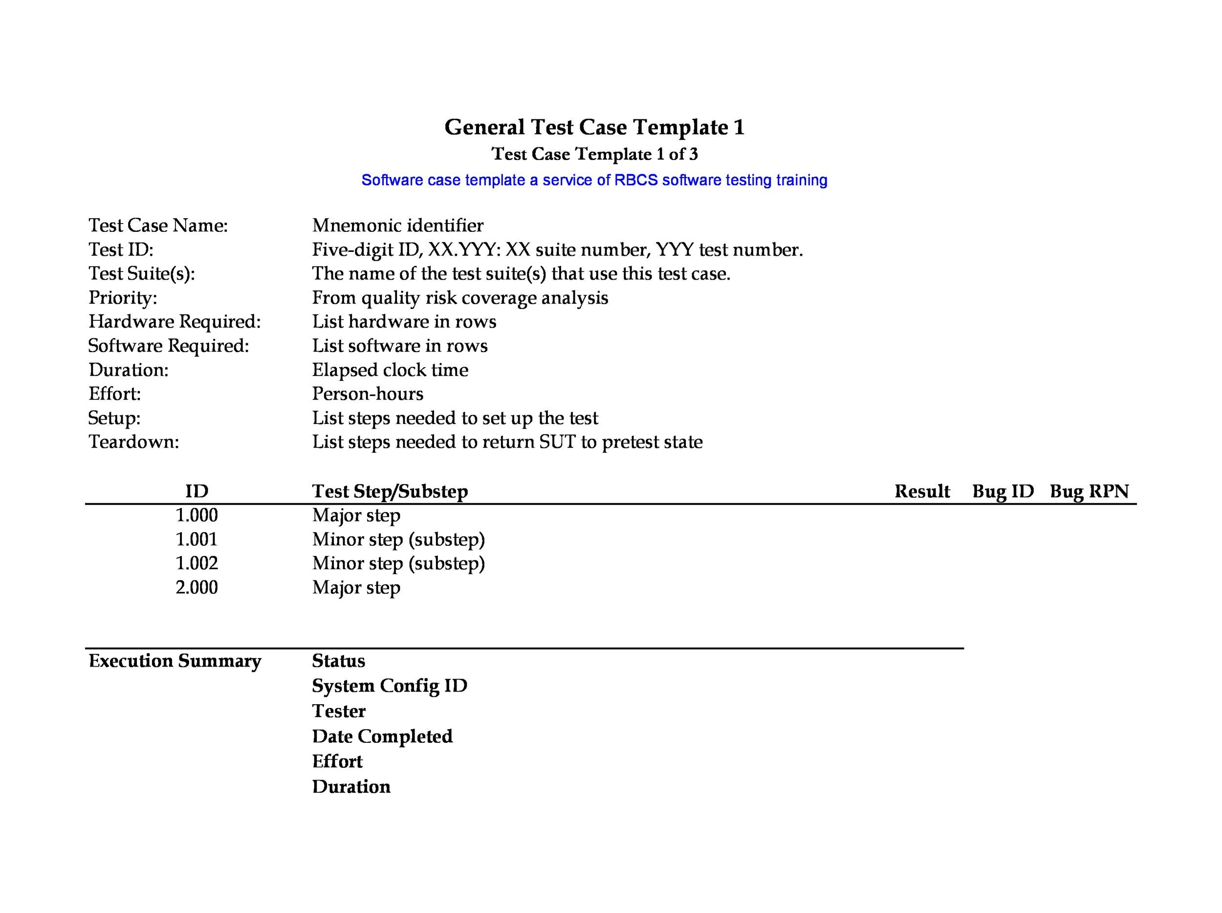 Free test case template 09