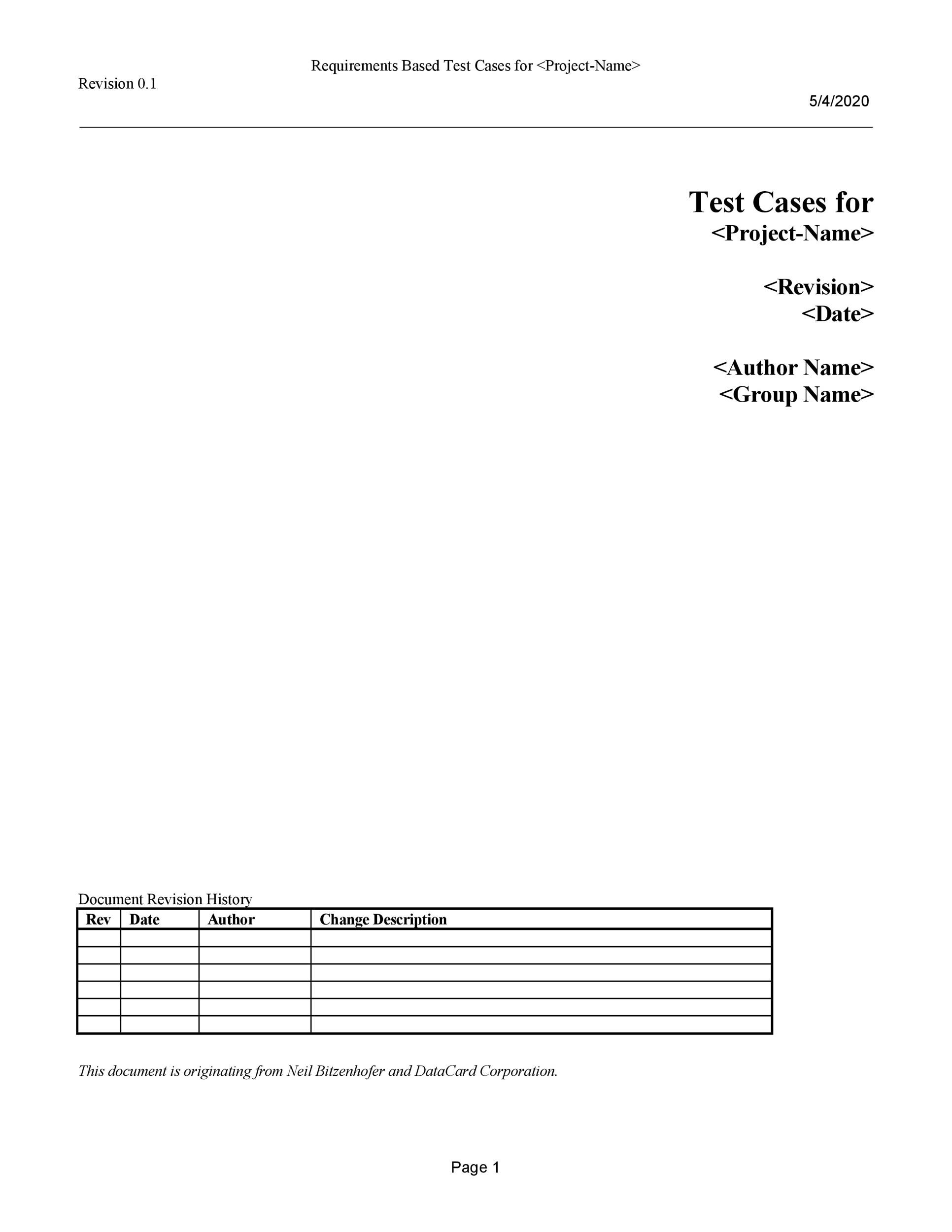 Free test case template 17