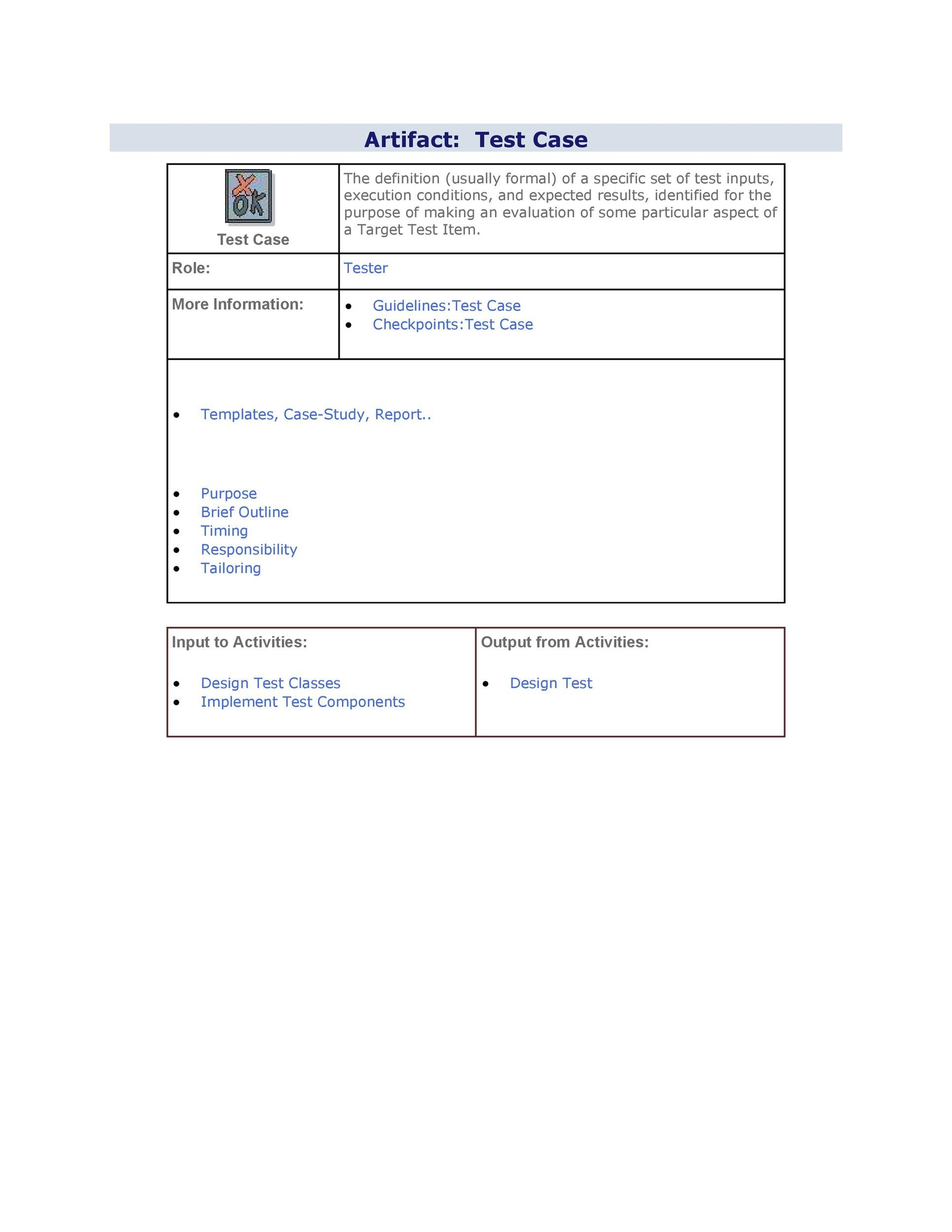 Free test case template 25