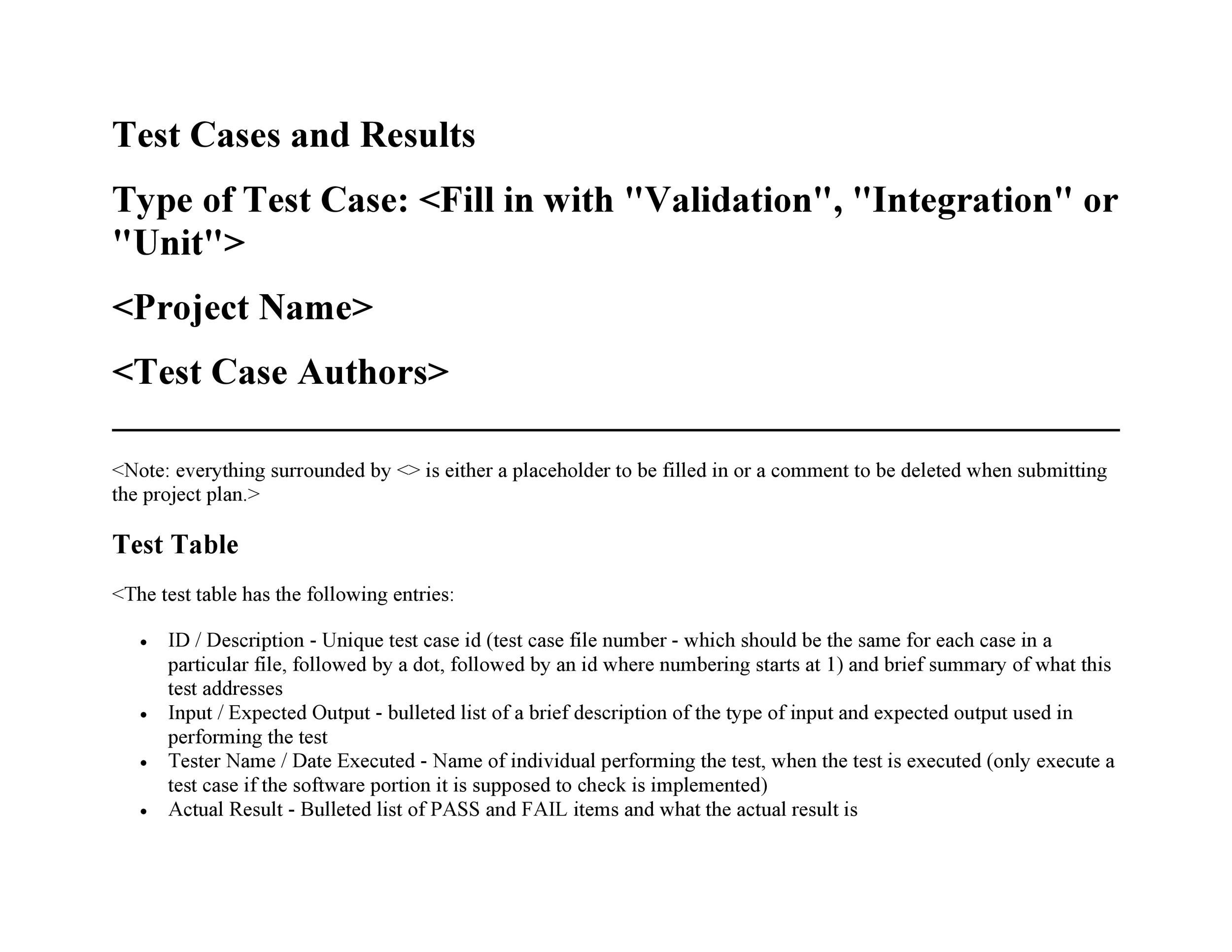Free test case template 34
