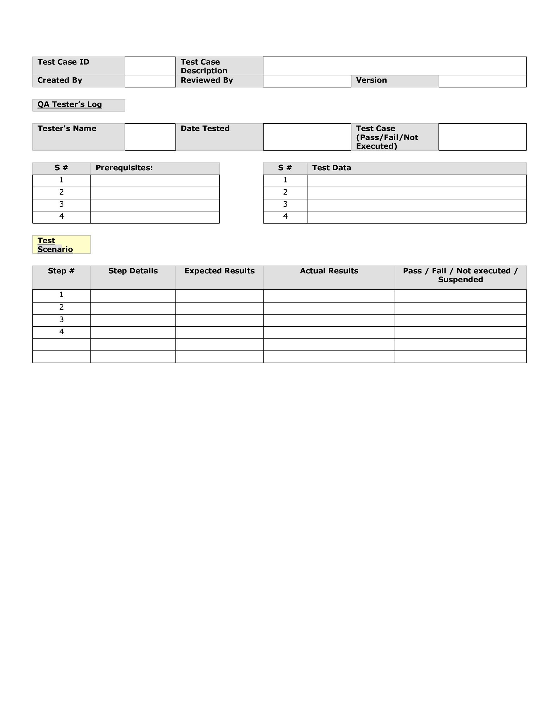 Free test case template 38