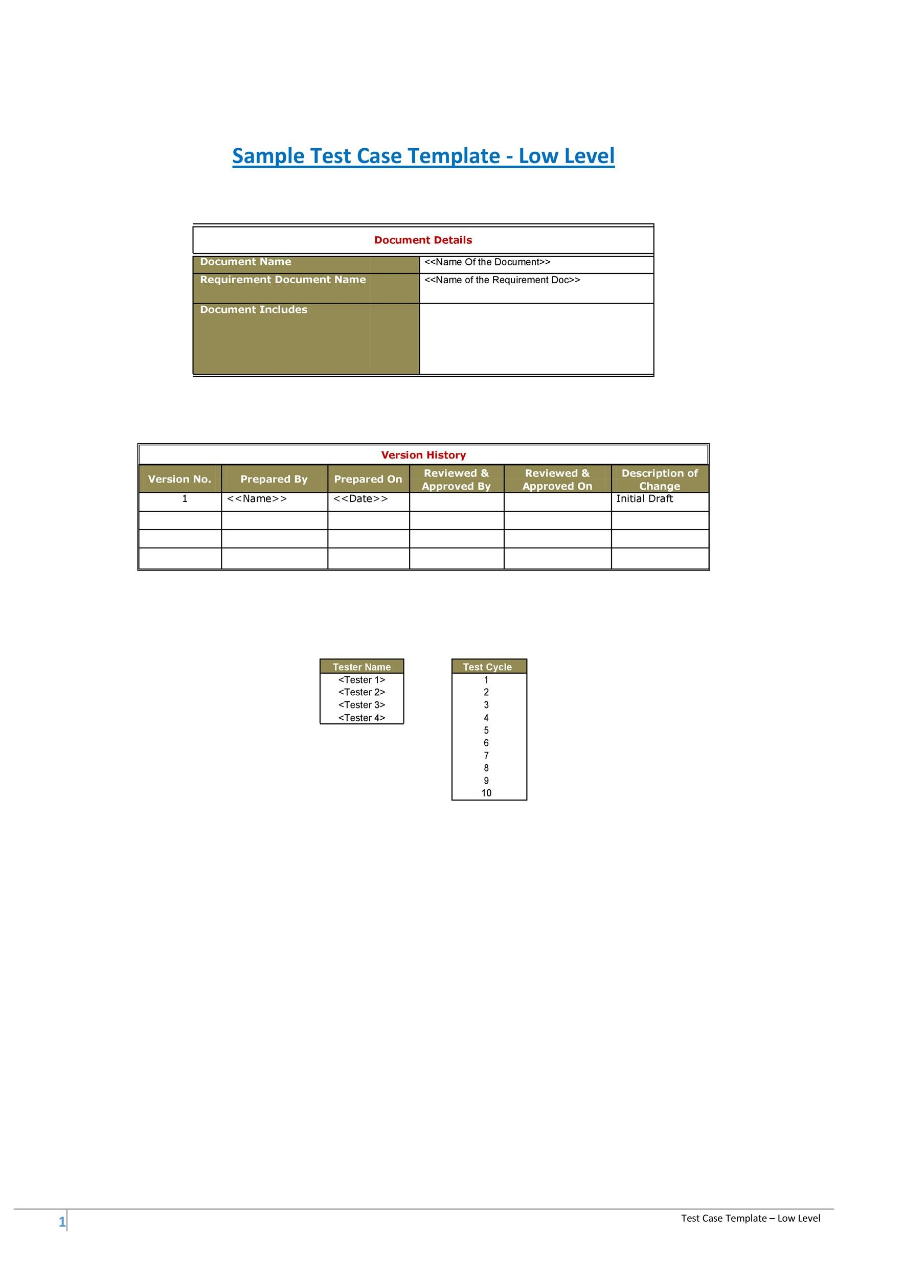 Free test case template 42