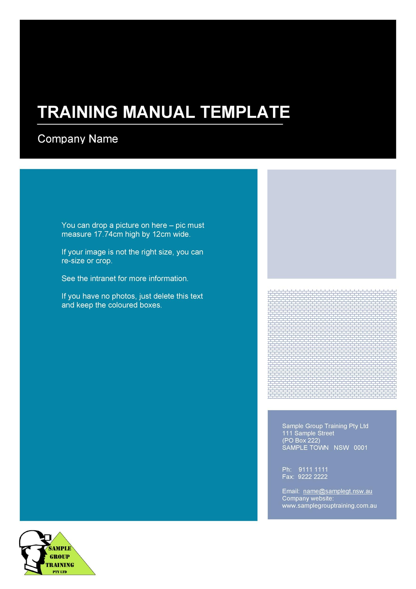 Printable Training Manual Template 01  Free Training Manual Templates