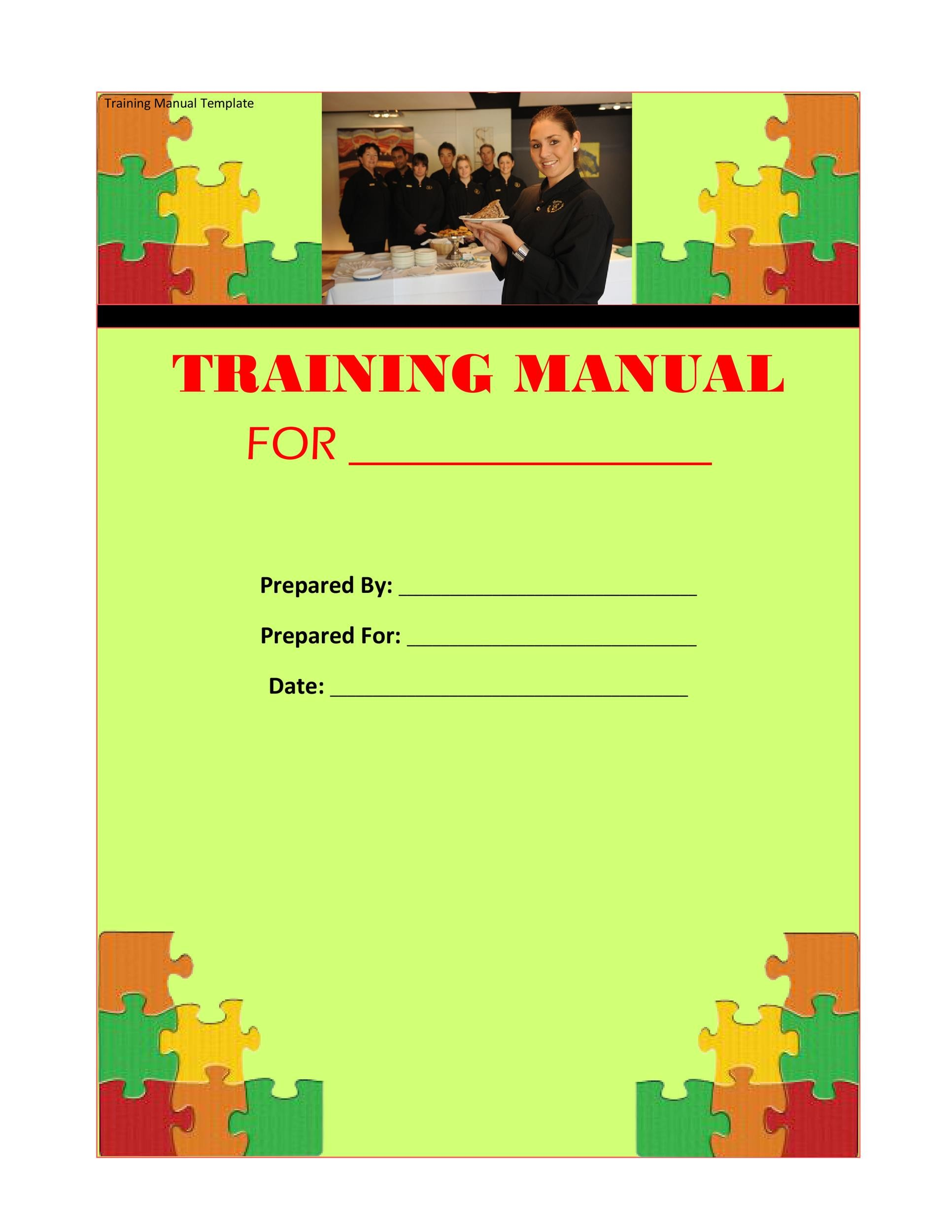 Printable Training Manual Template 07  Free Training Manual Templates