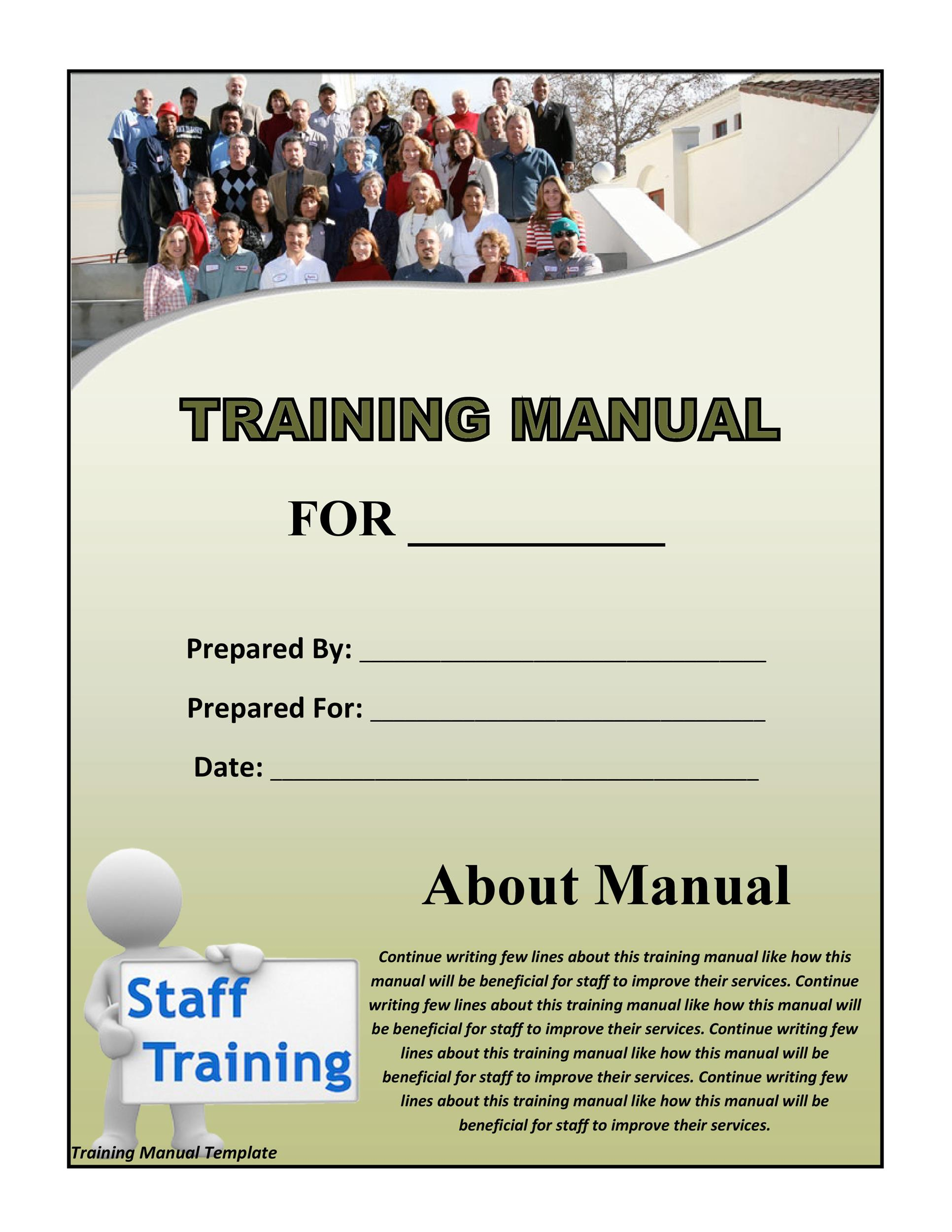 Printable Training Manual Template 08  Free Training Manual Templates