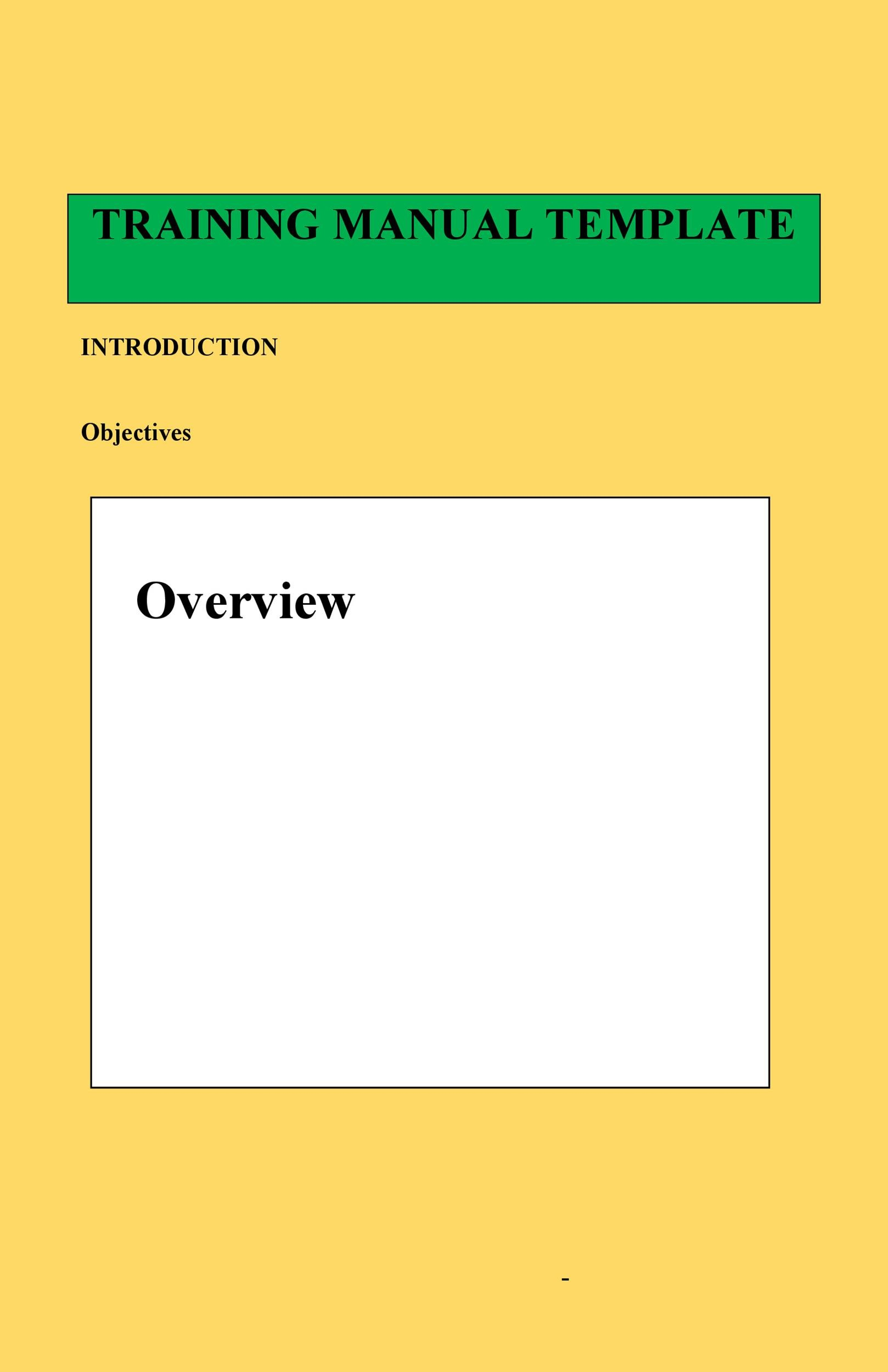 Free training manual template 10