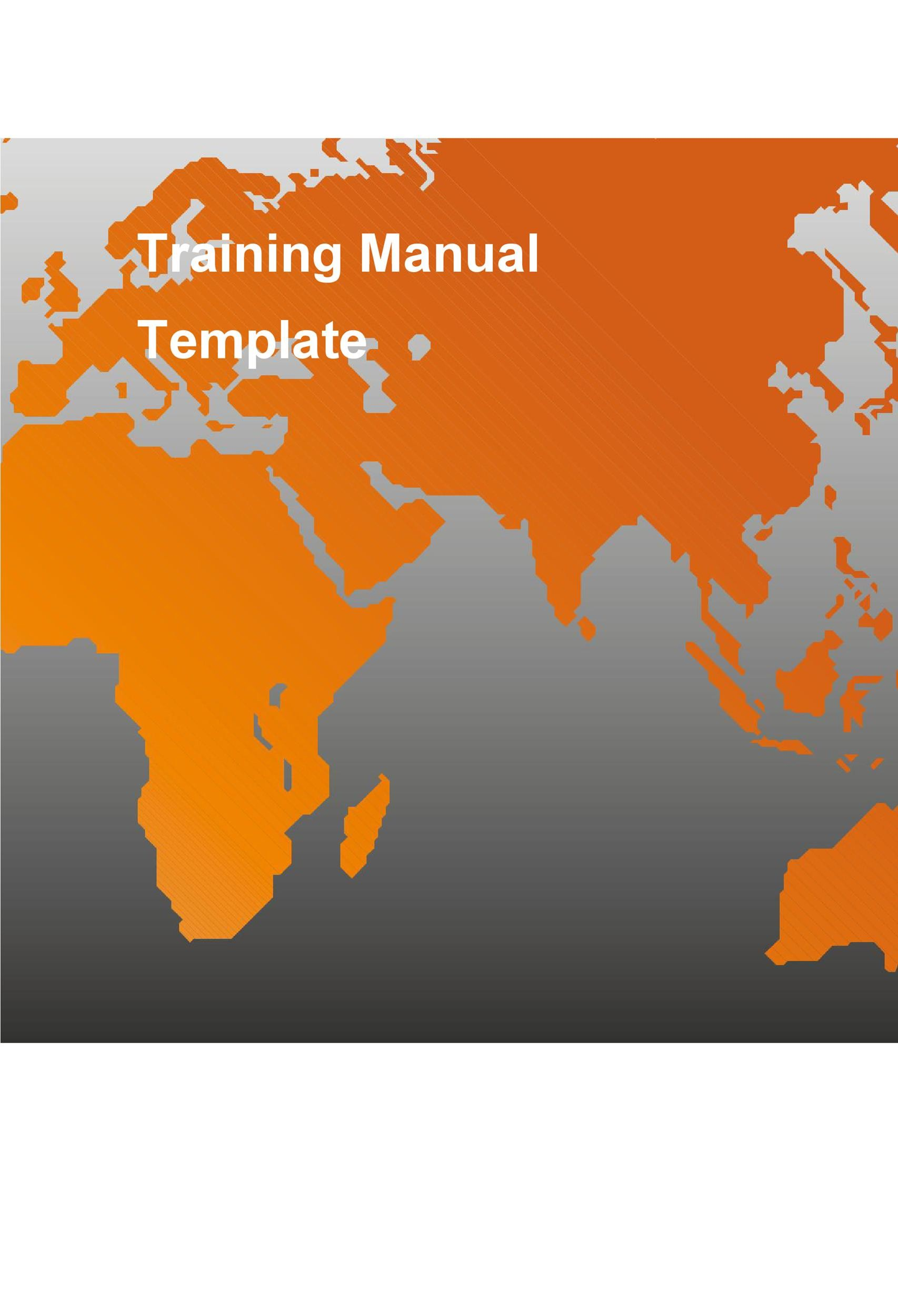 Free training manual template 13