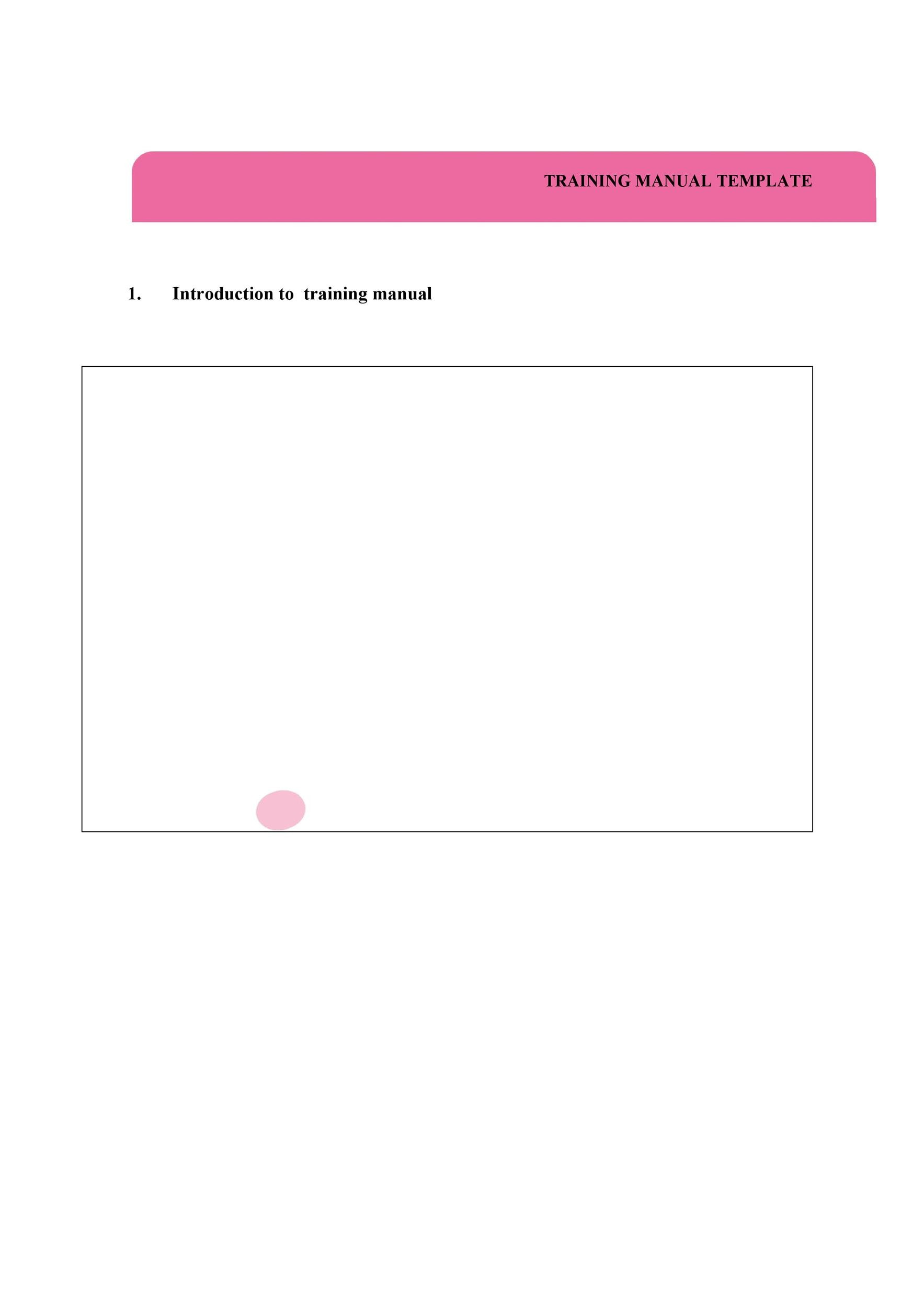 Free training manual template 14