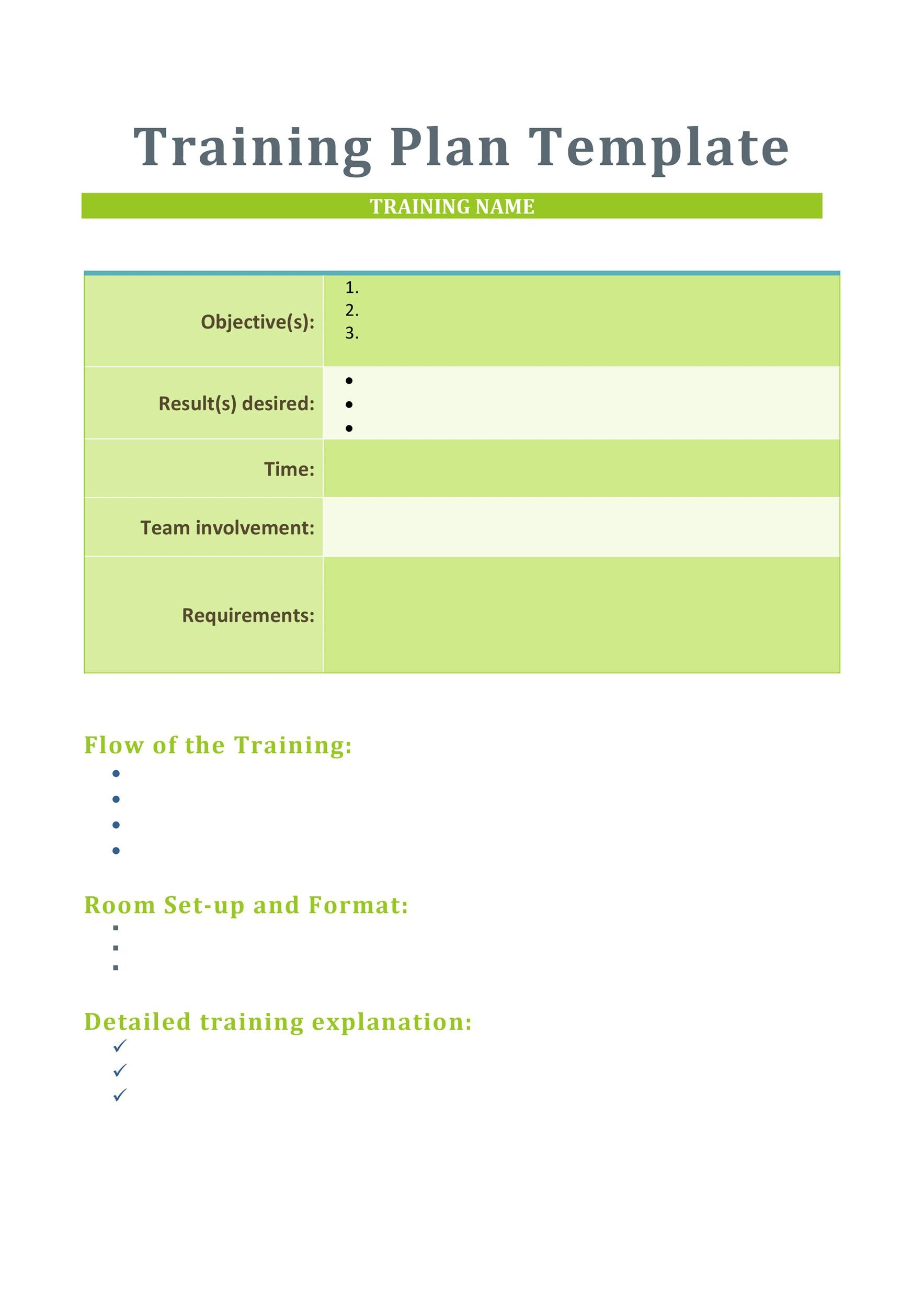 Free training manual template 15