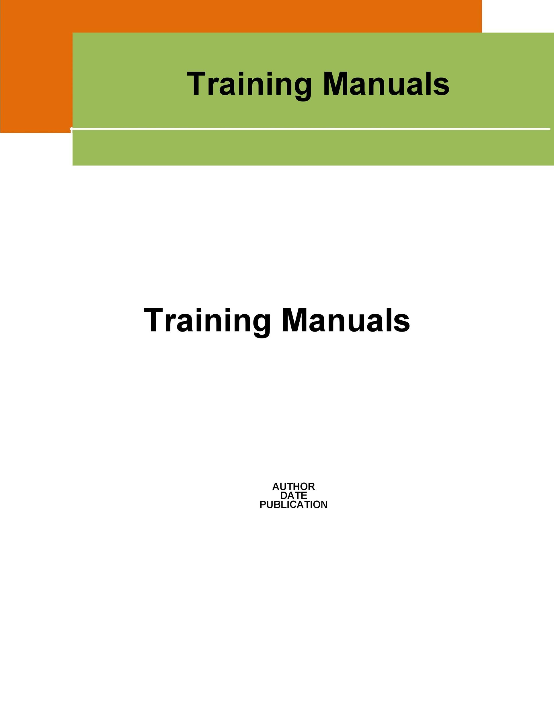 Free training manual template 16