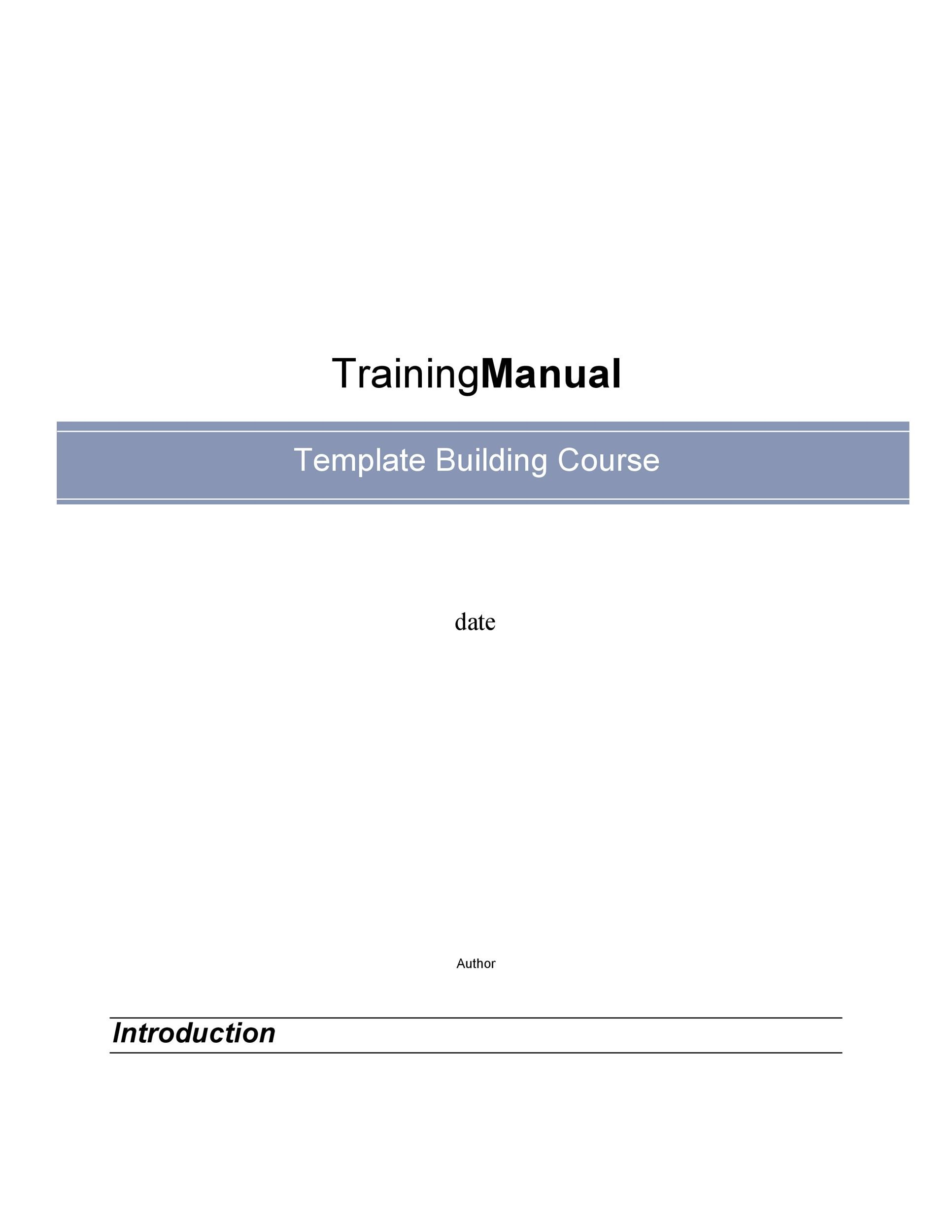 Free training manual template 18