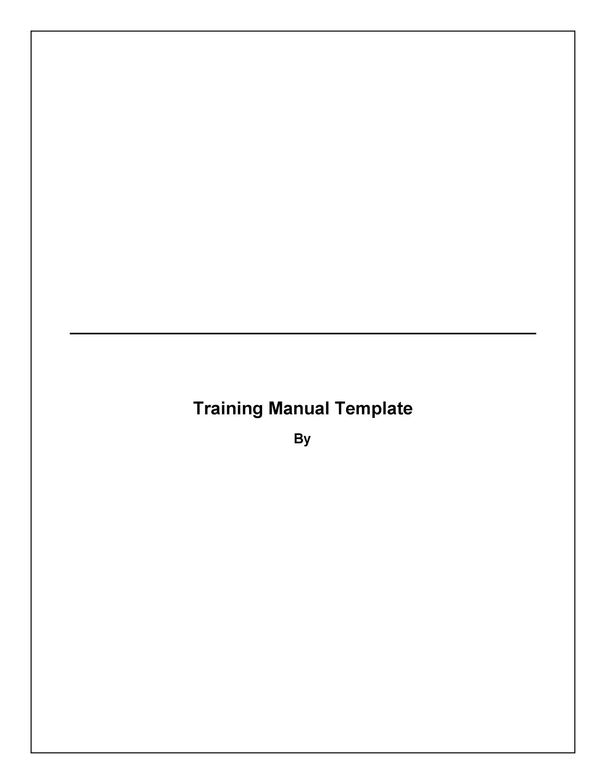 Free training manual template 19