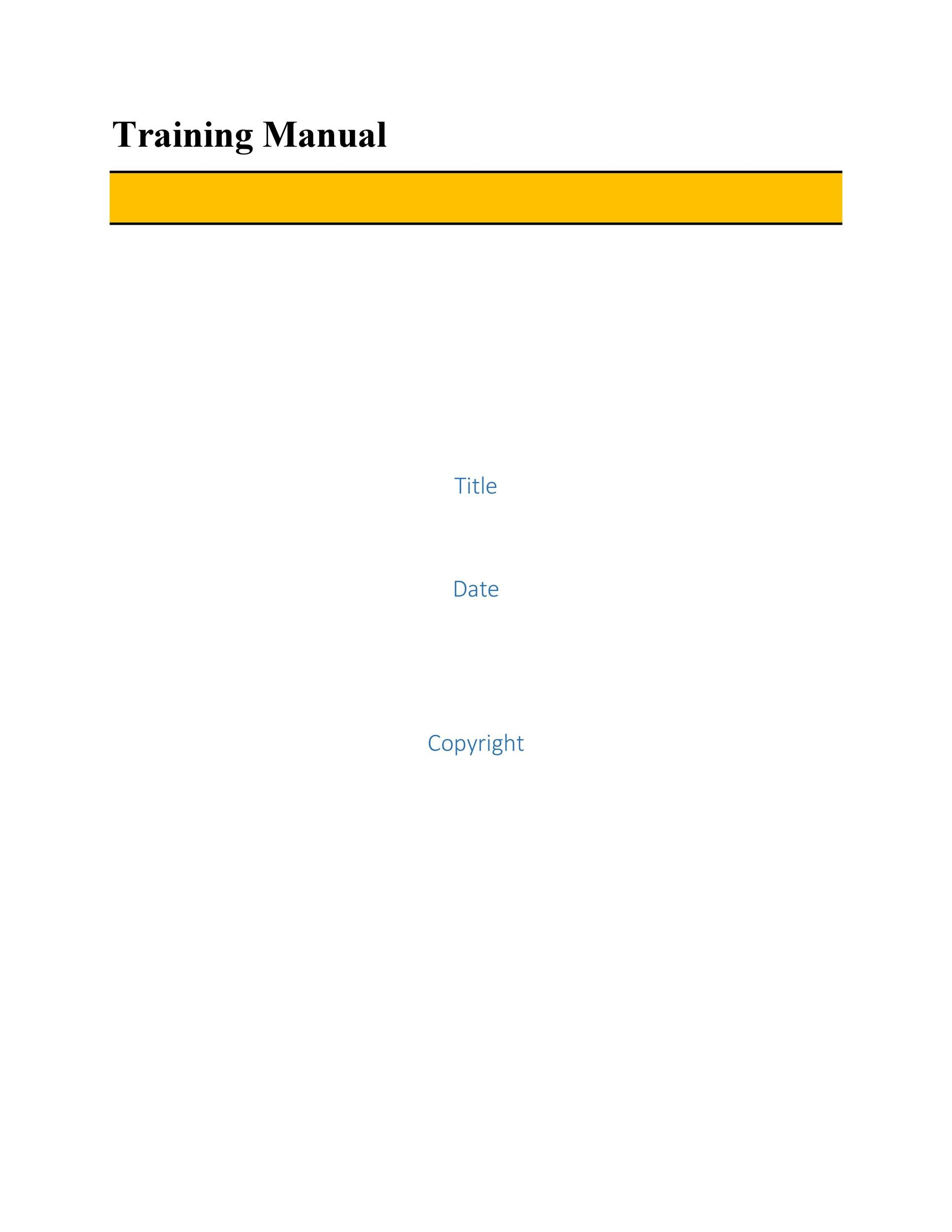 Free training manual template 22