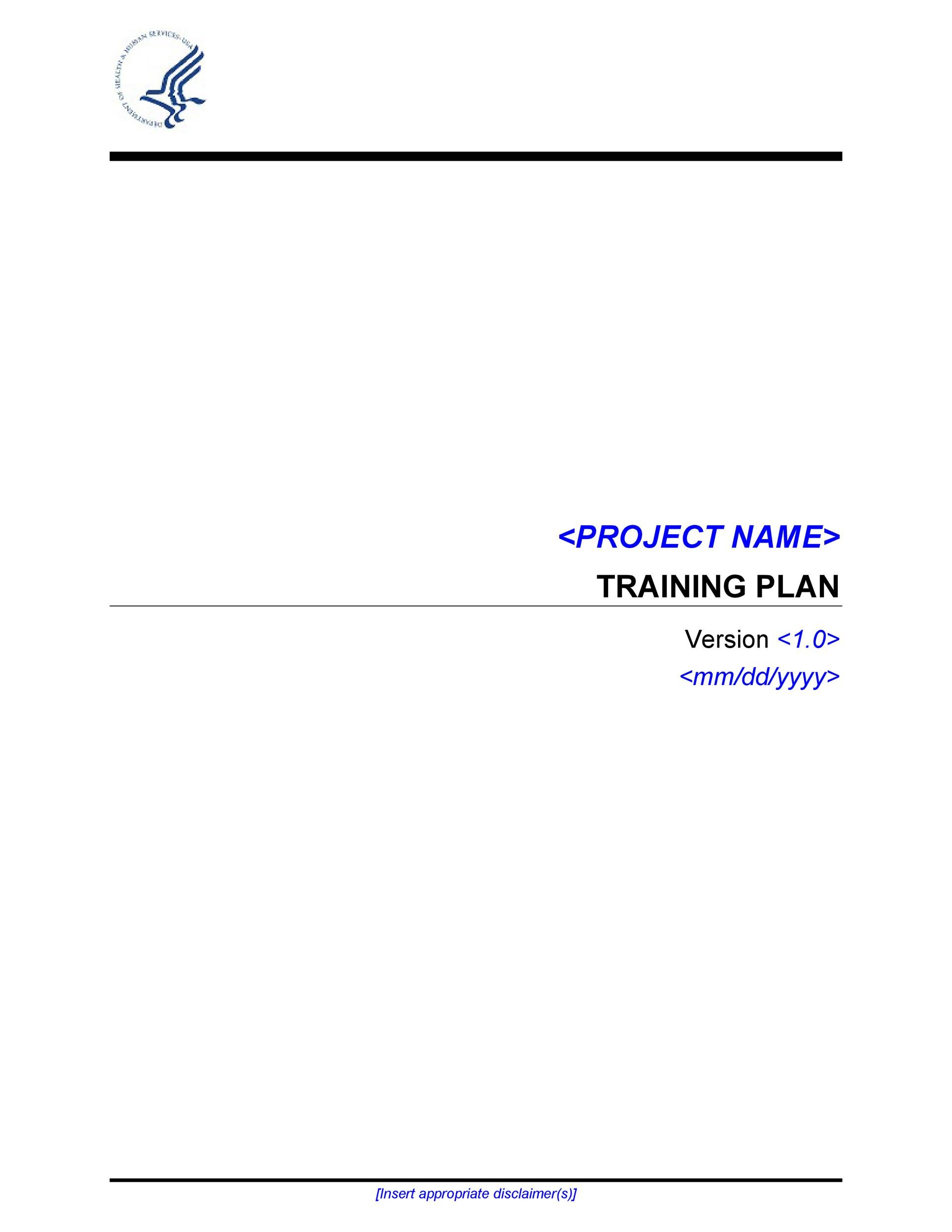 Free training manual template 23