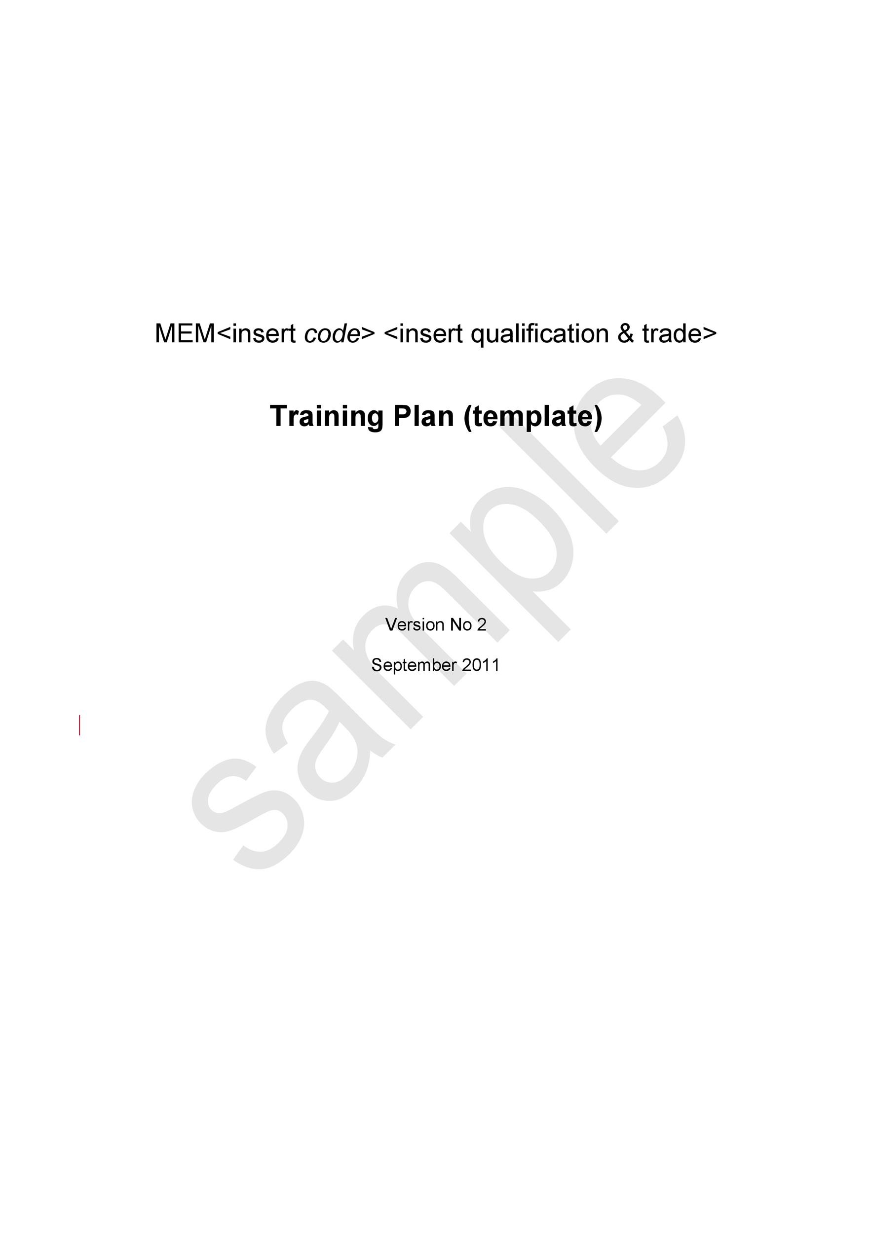 Free training manual template 26