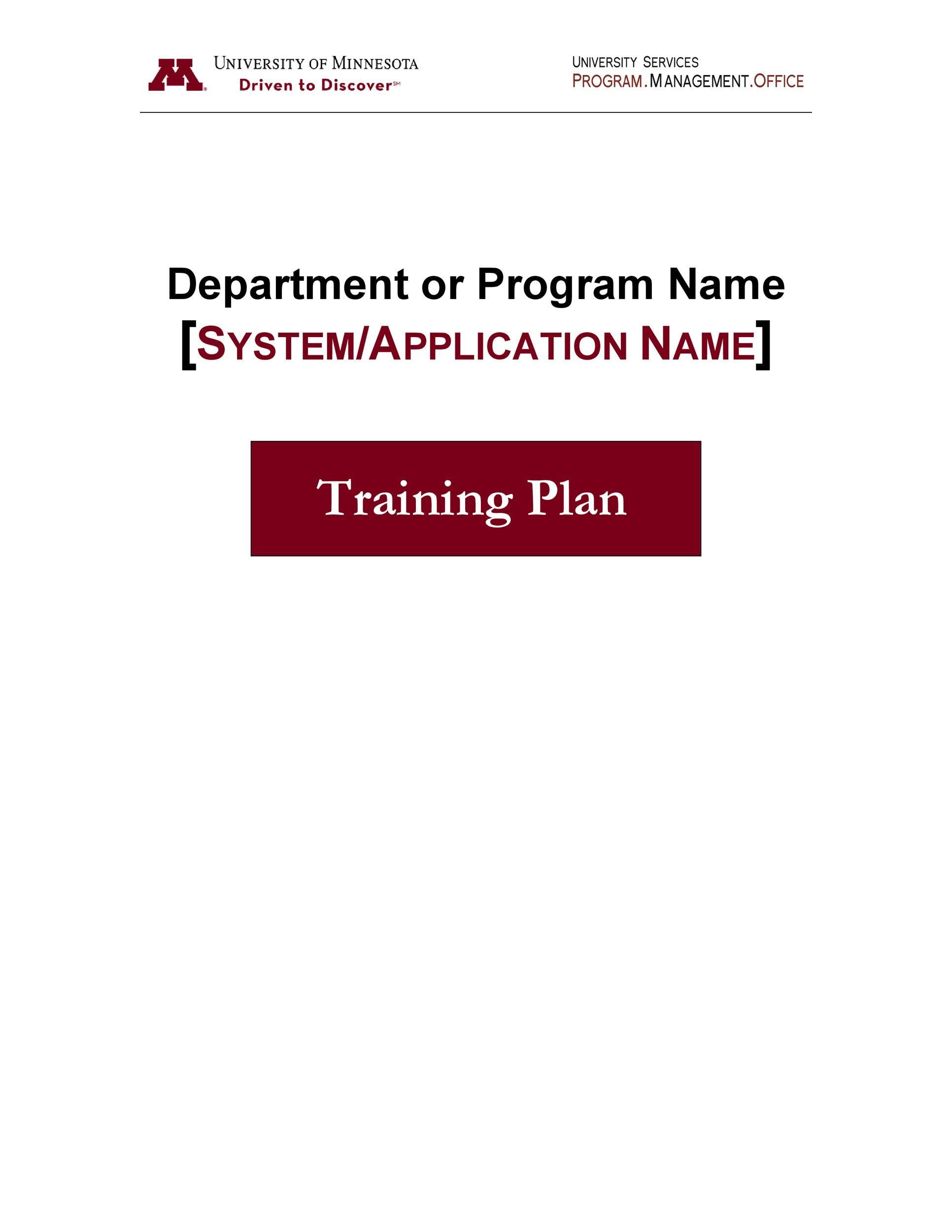 Free training manual template 27