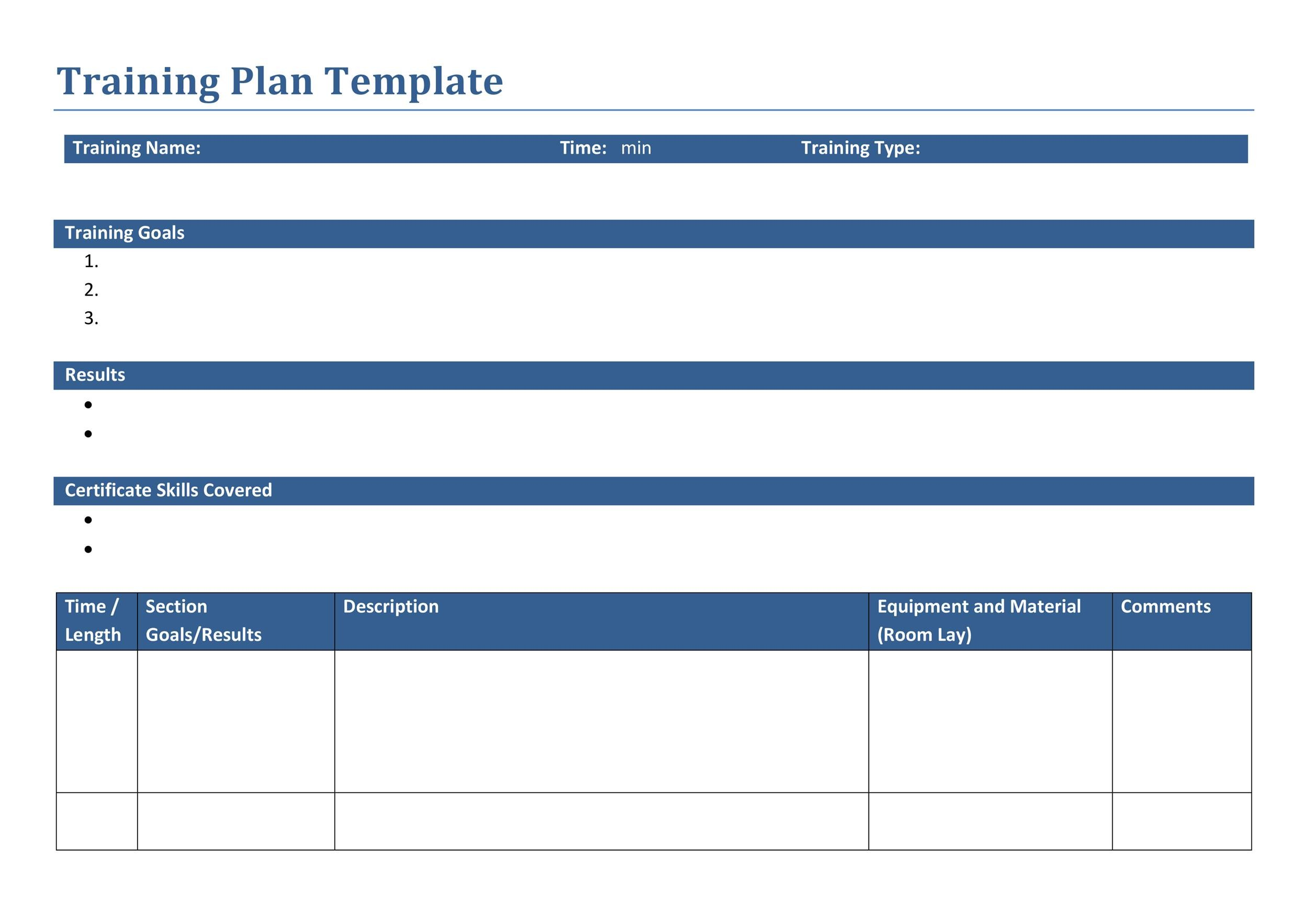 it training template
