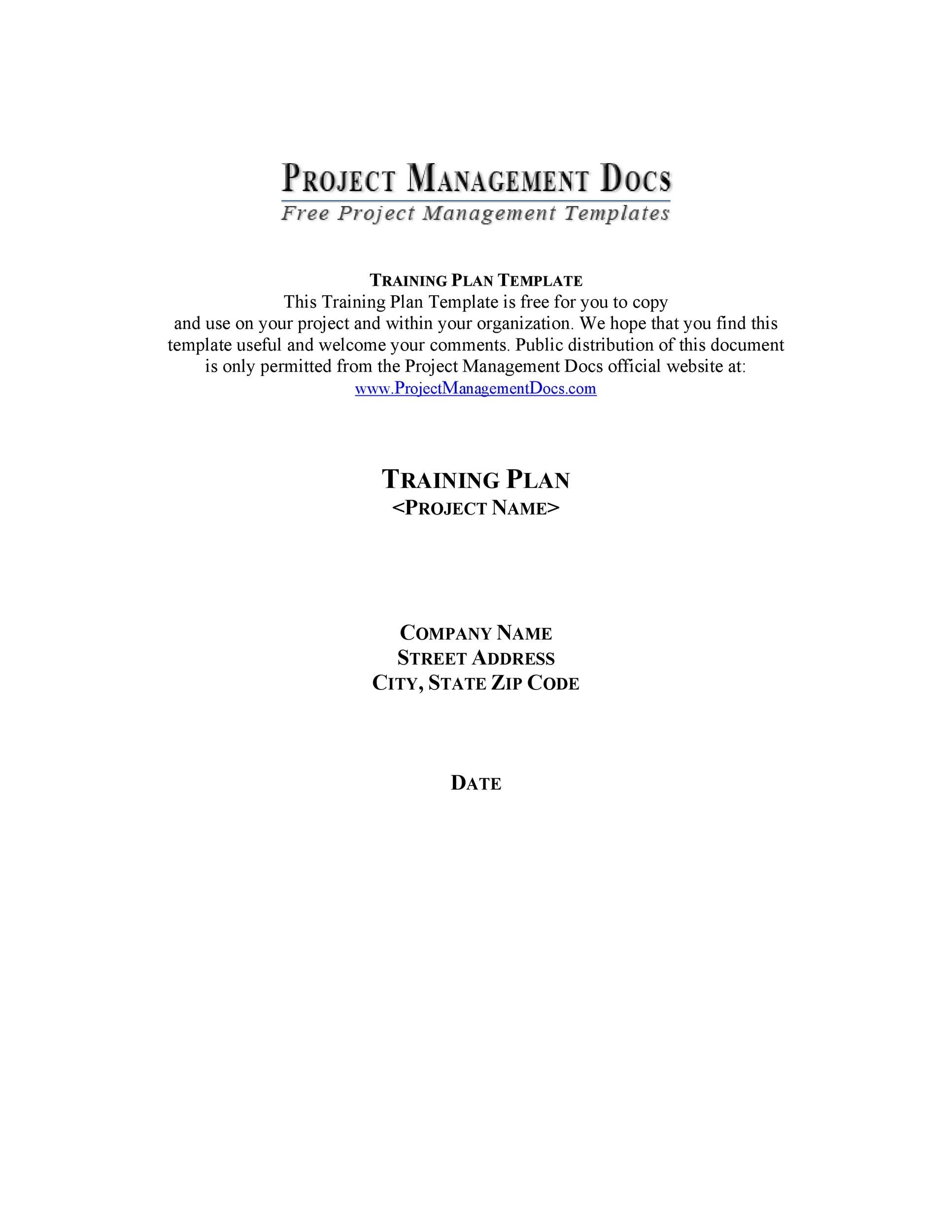 Free training manual template 30