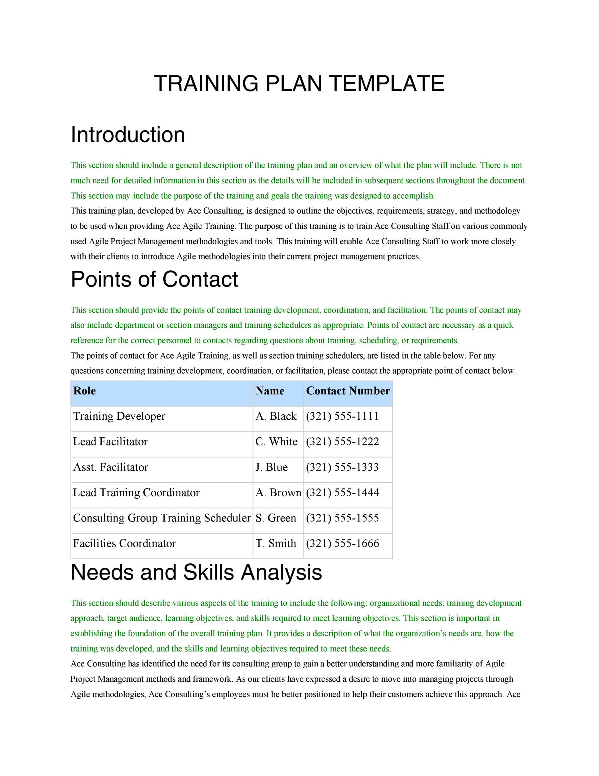 Free training manual template 32