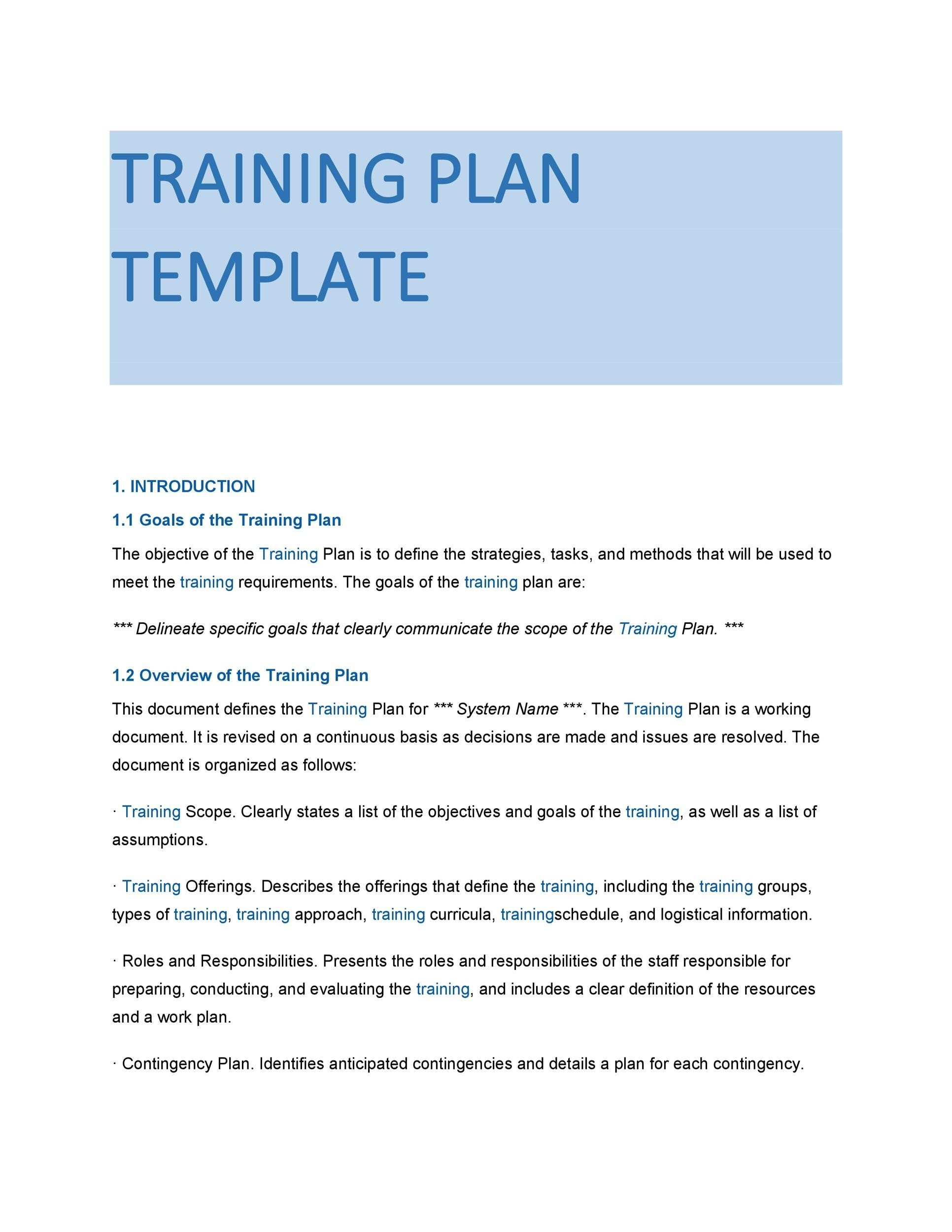 Free training manual template 33