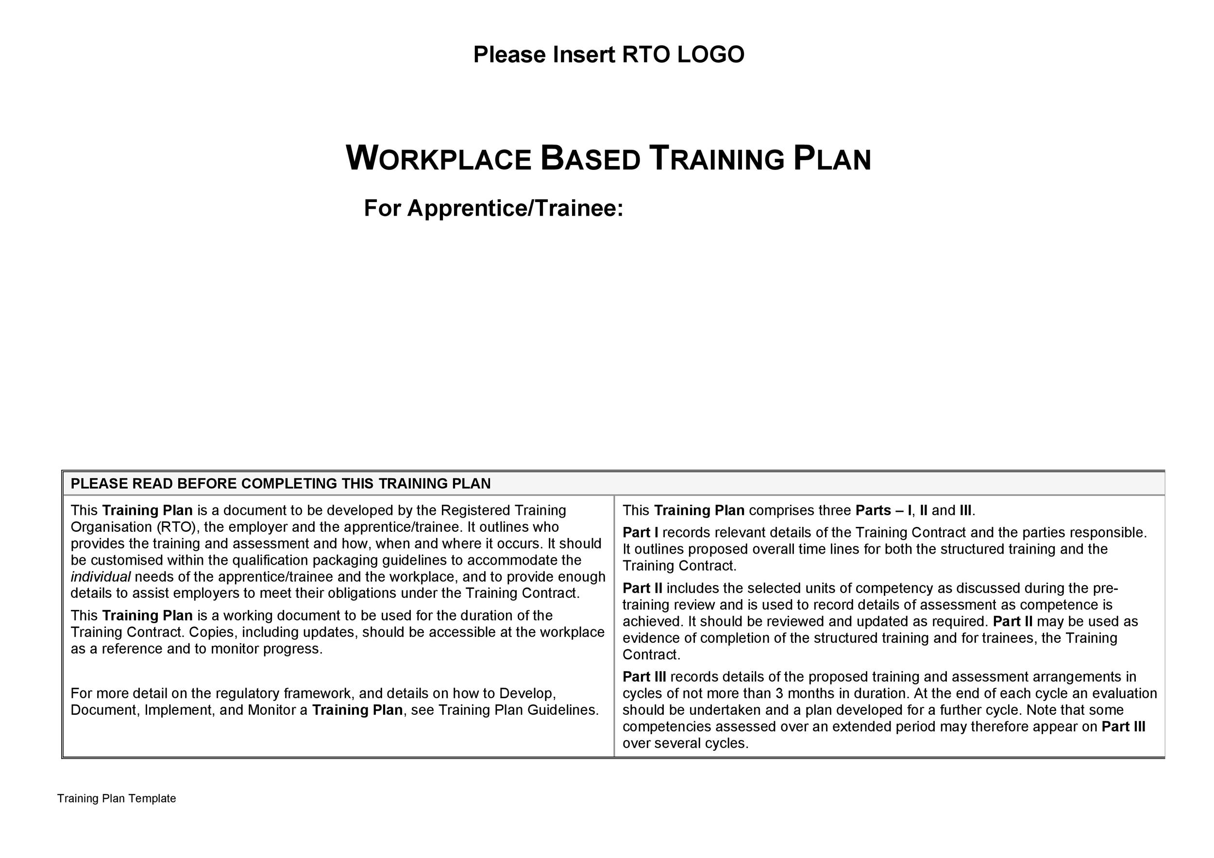 Free training manual template 35