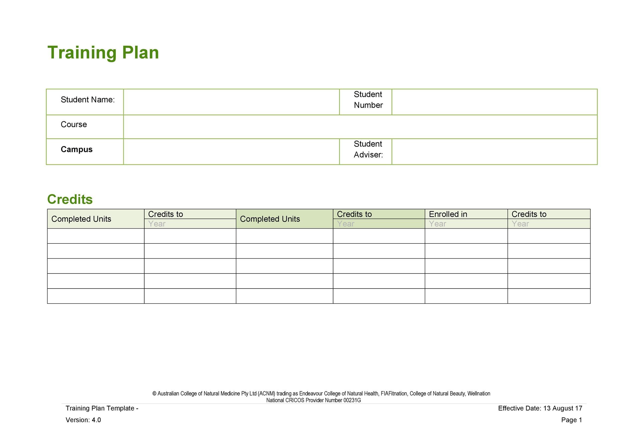 Free training manual template 36
