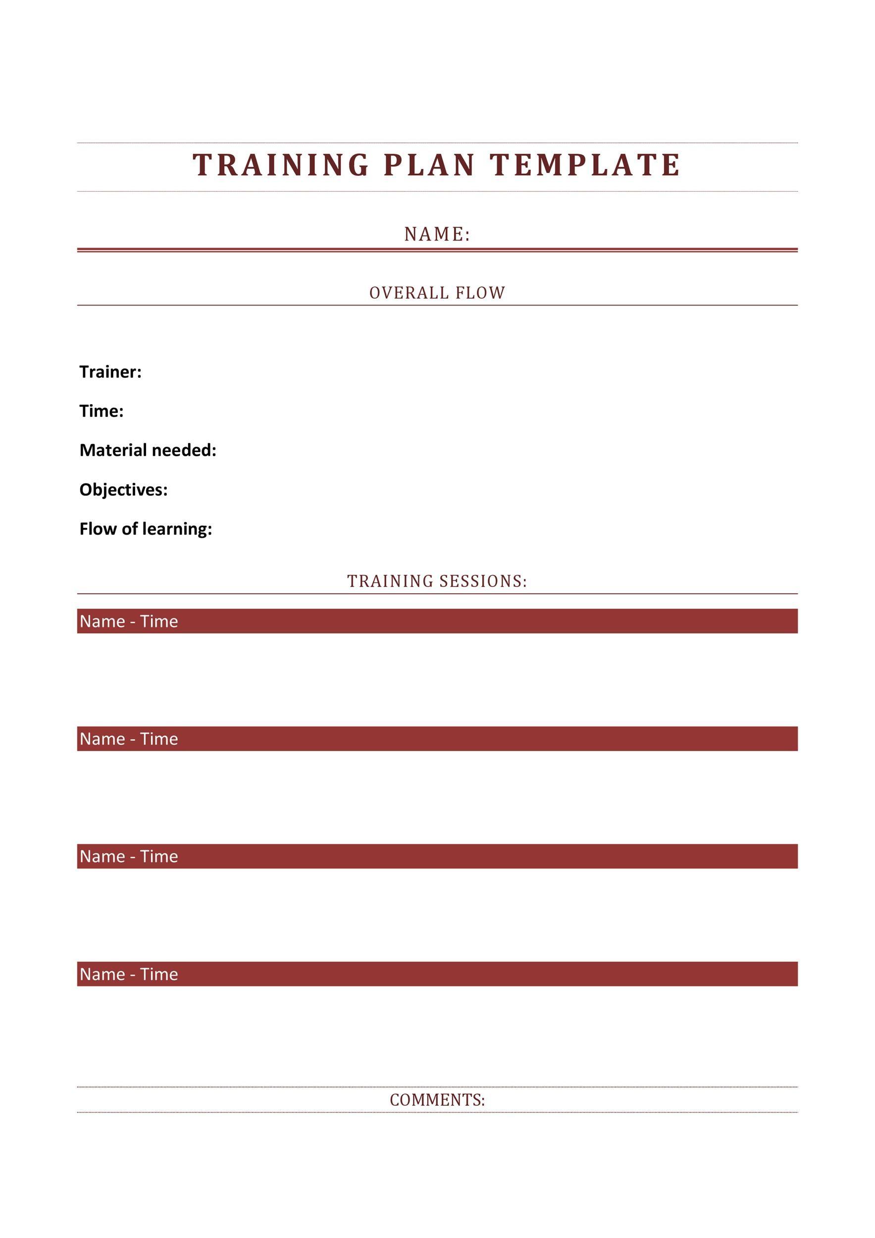Free training manual template 41