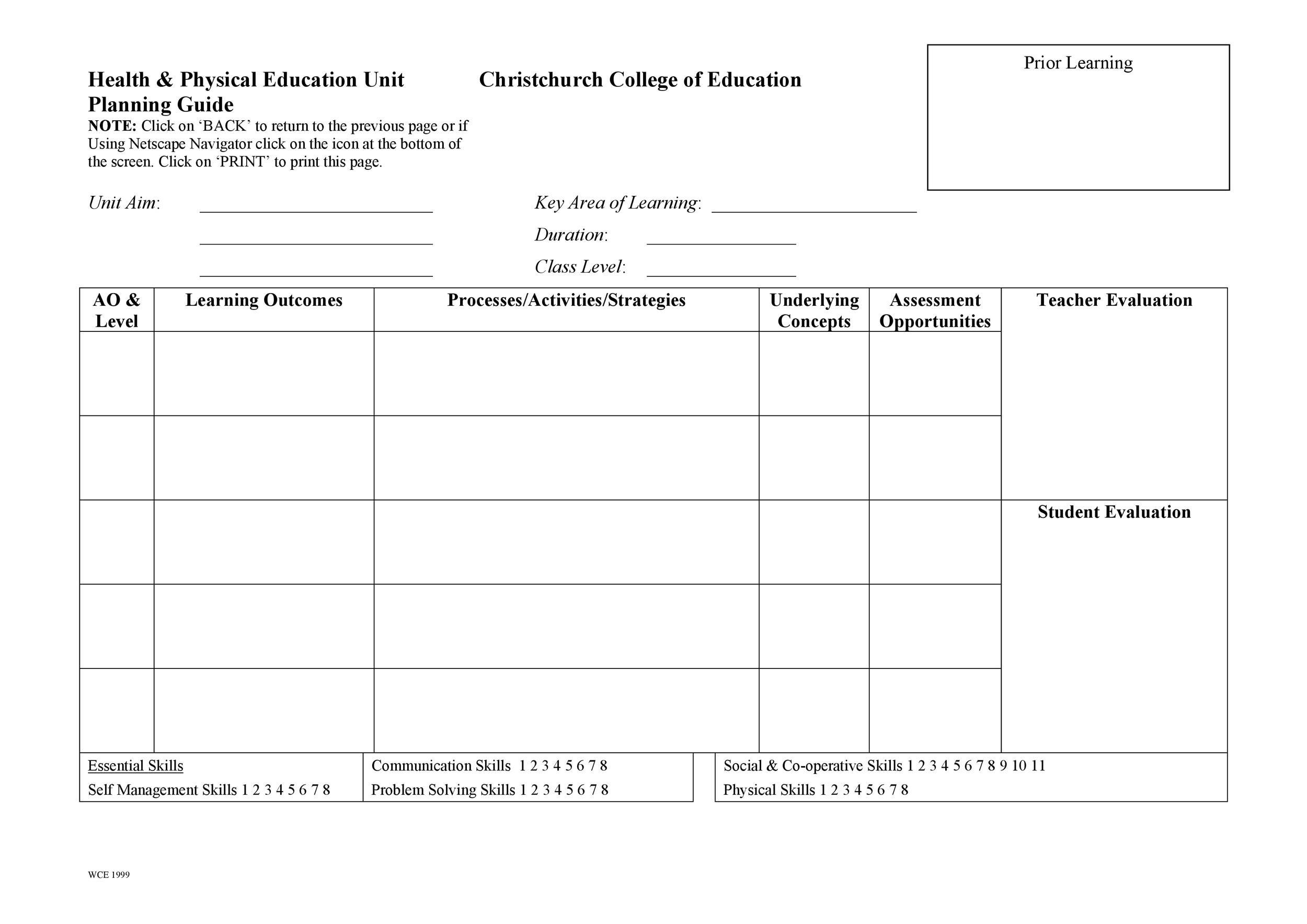 Free unit plan template 03