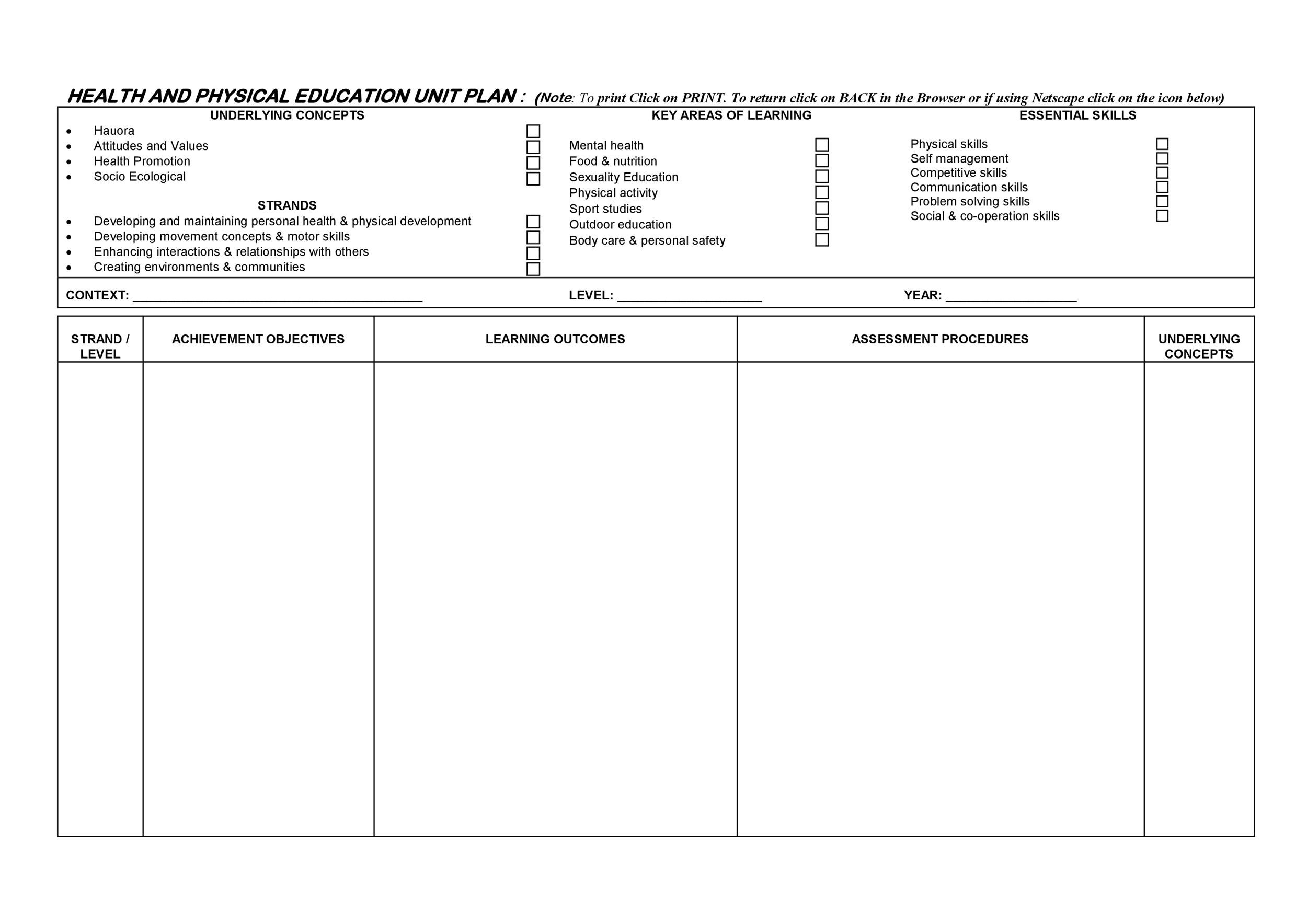 Free unit plan template 04