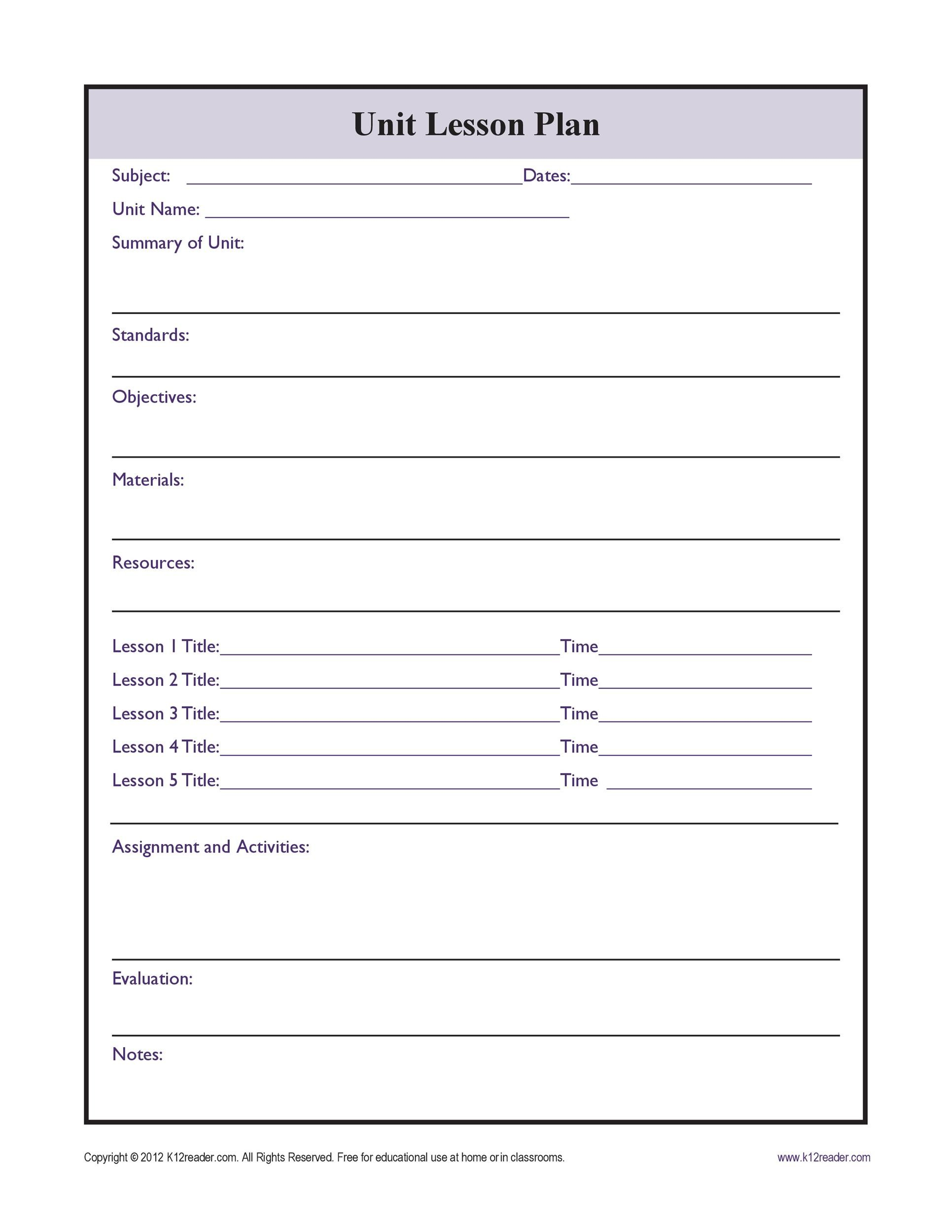 Free unit plan template 09