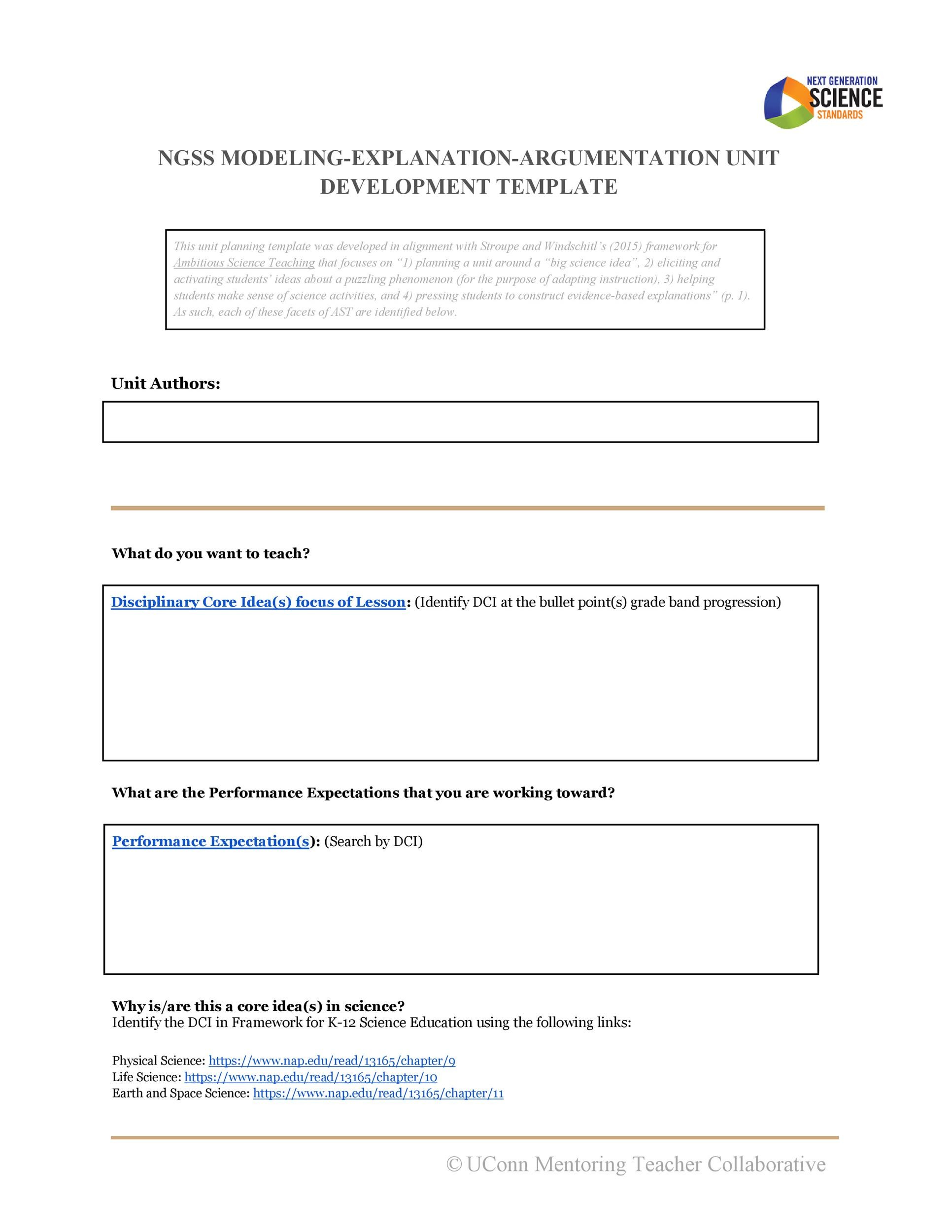 Free unit plan template 20