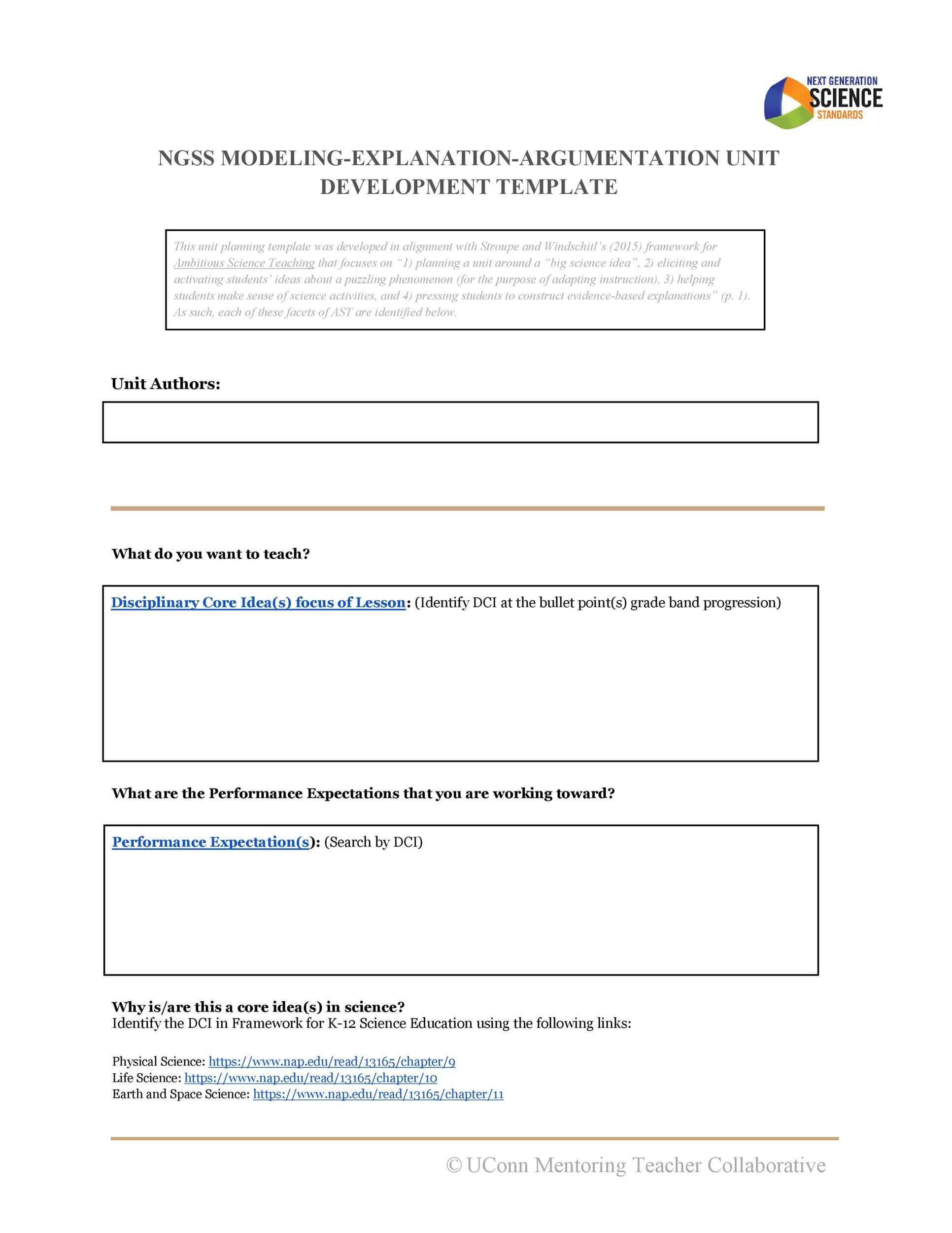 Free unit plan template 20