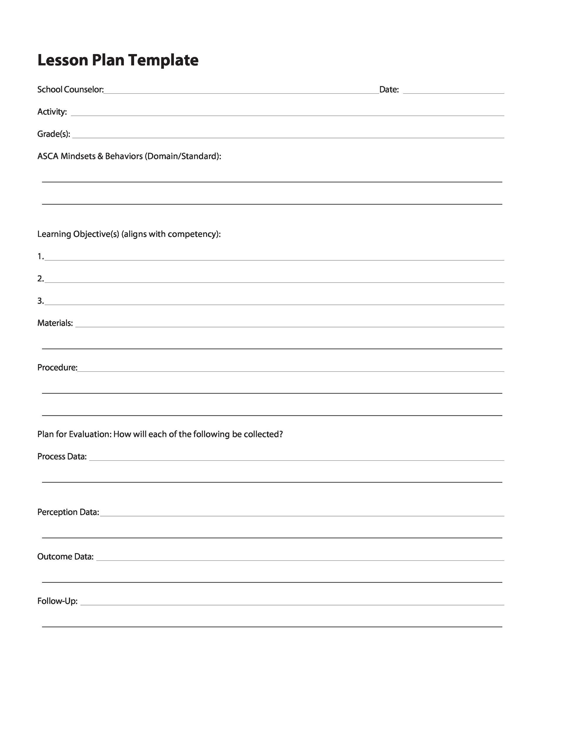 Free unit plan template 23