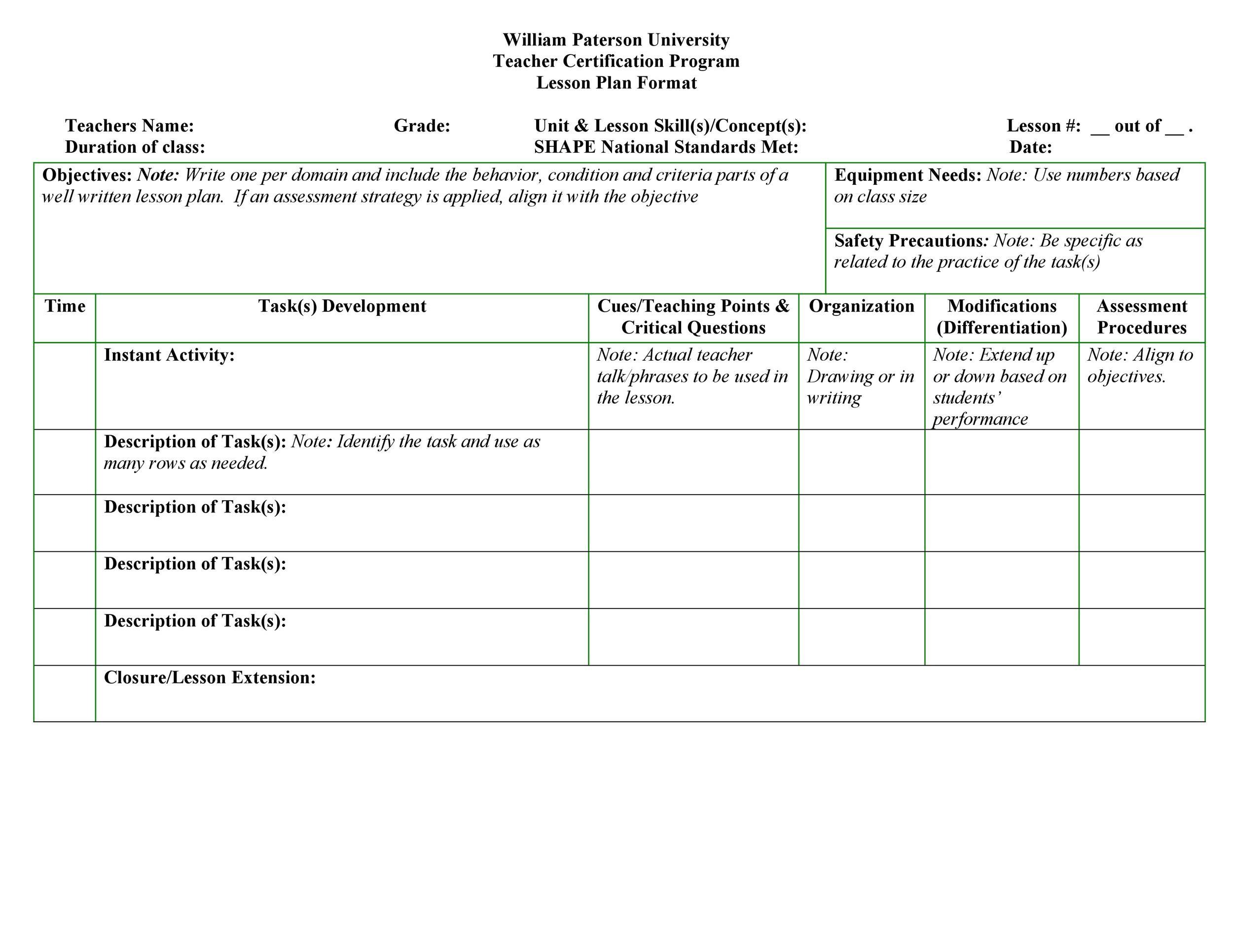 Free unit plan template 27