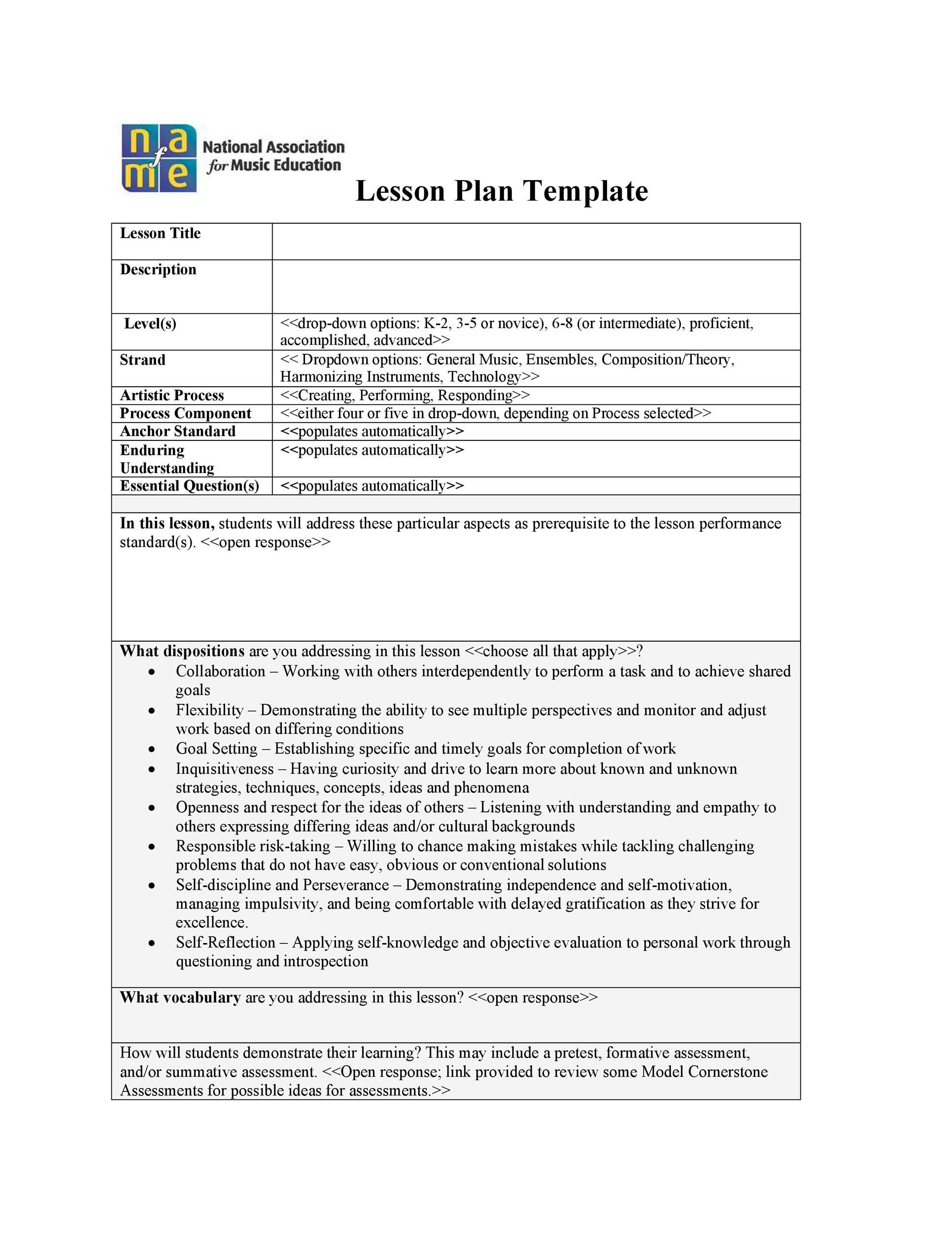 Free unit plan template 32